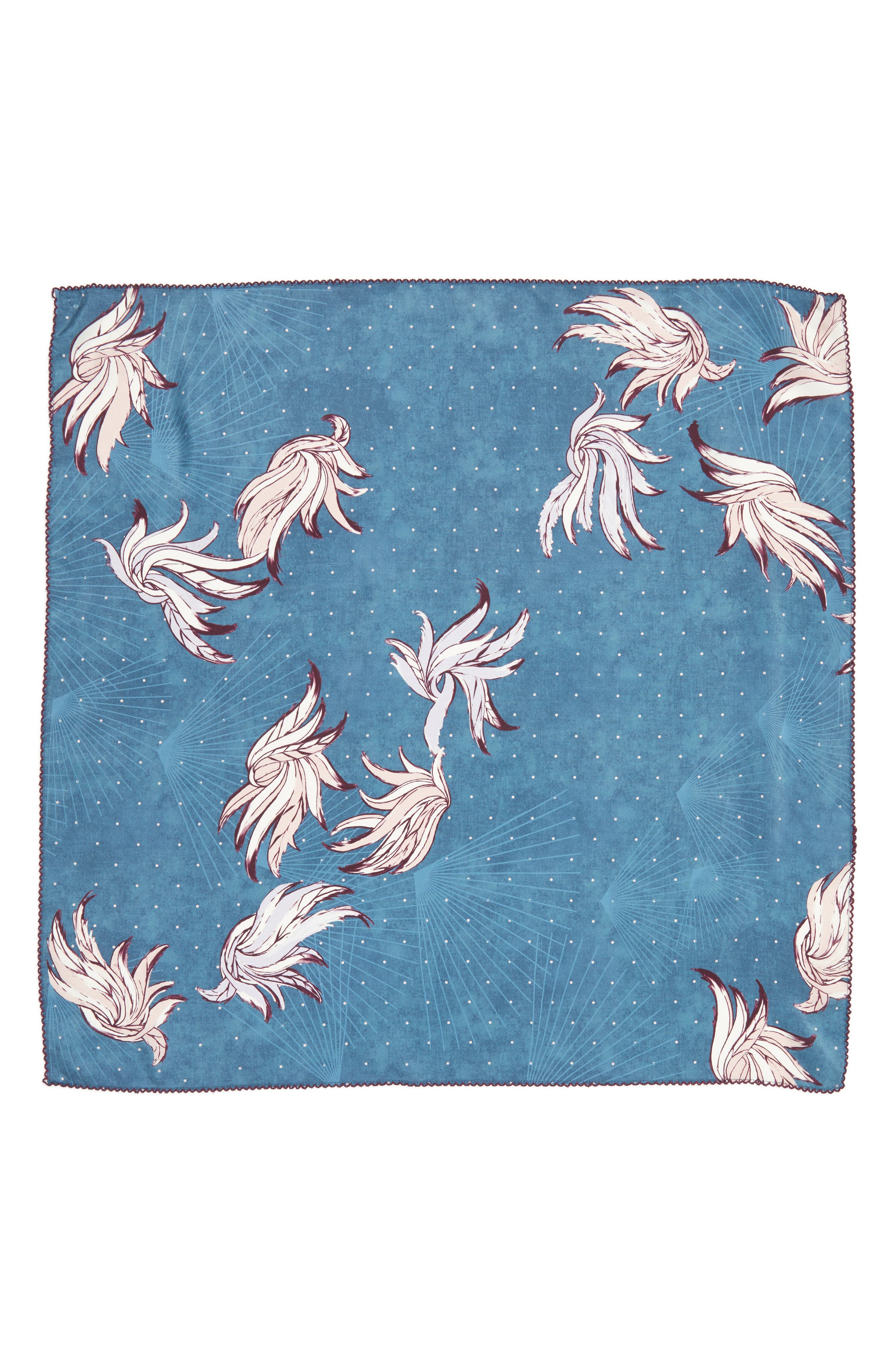 Disco Wings Silk Scarf,                             Alternate thumbnail 2, color,                             Blue Combo