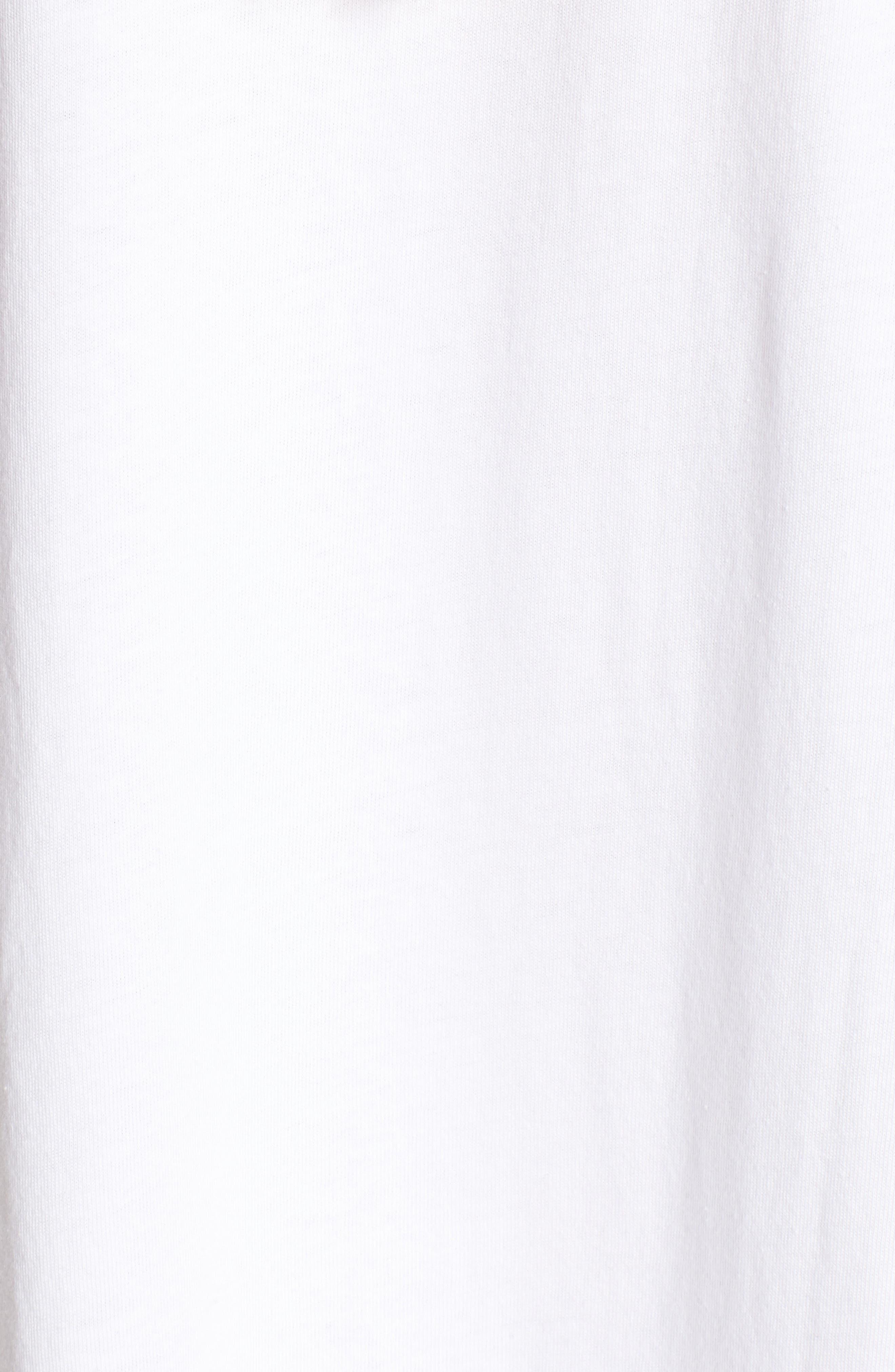 Babe T-Shirt Dress,                             Alternate thumbnail 5, color,                             Clean White