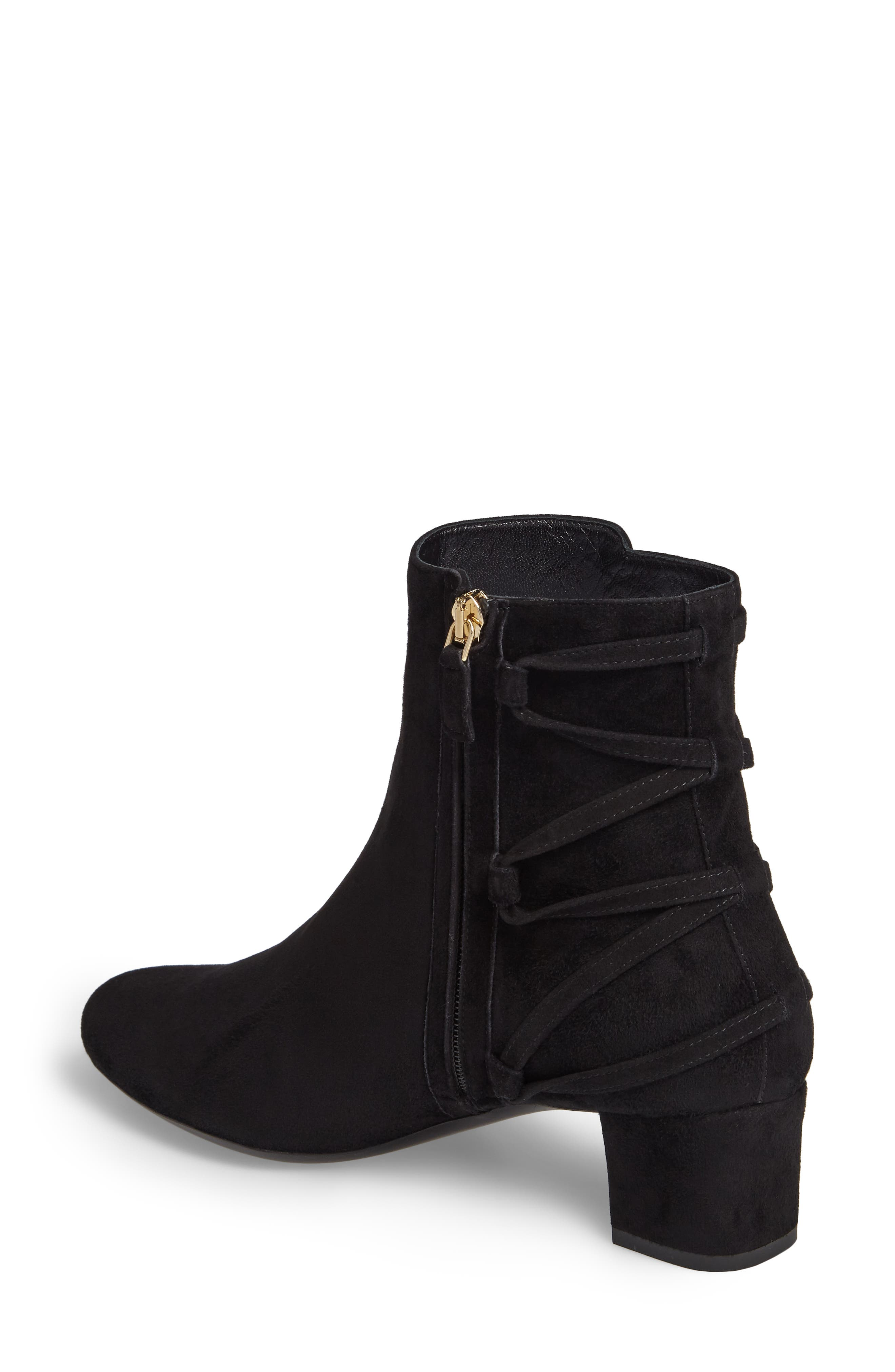 Lace-Up Bootie,                             Alternate thumbnail 2, color,                             Black