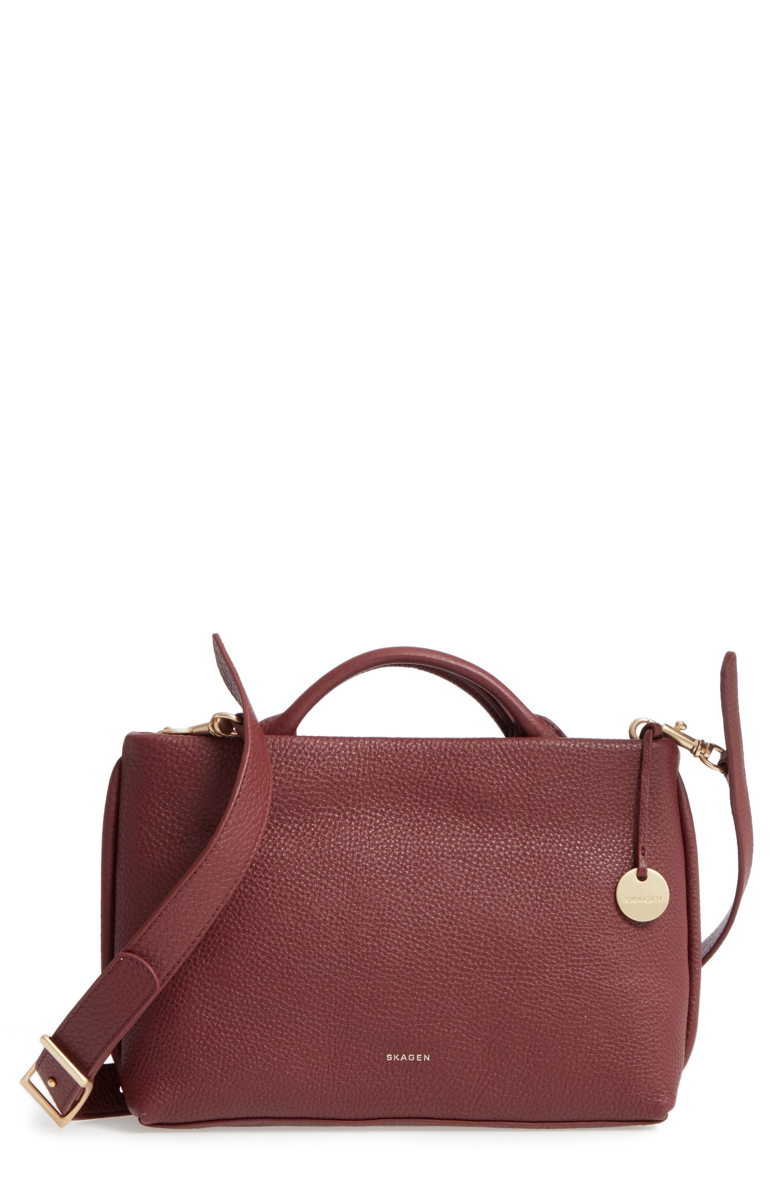 Alternate Image 1 Selected - Skagen Mikkeline Mini Leather Satchel