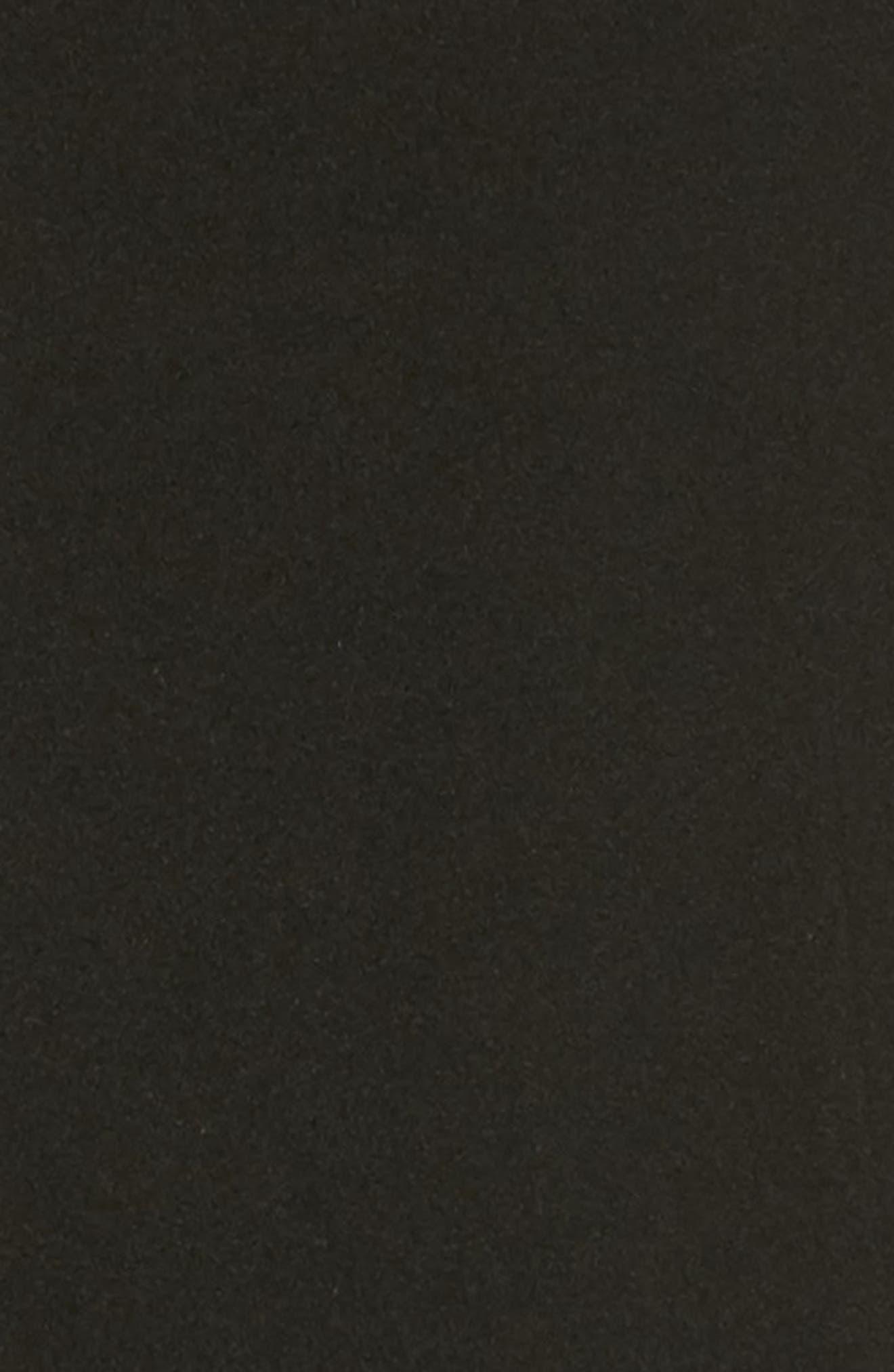 Appliqué Wool Coat,                             Alternate thumbnail 5, color,                             Black