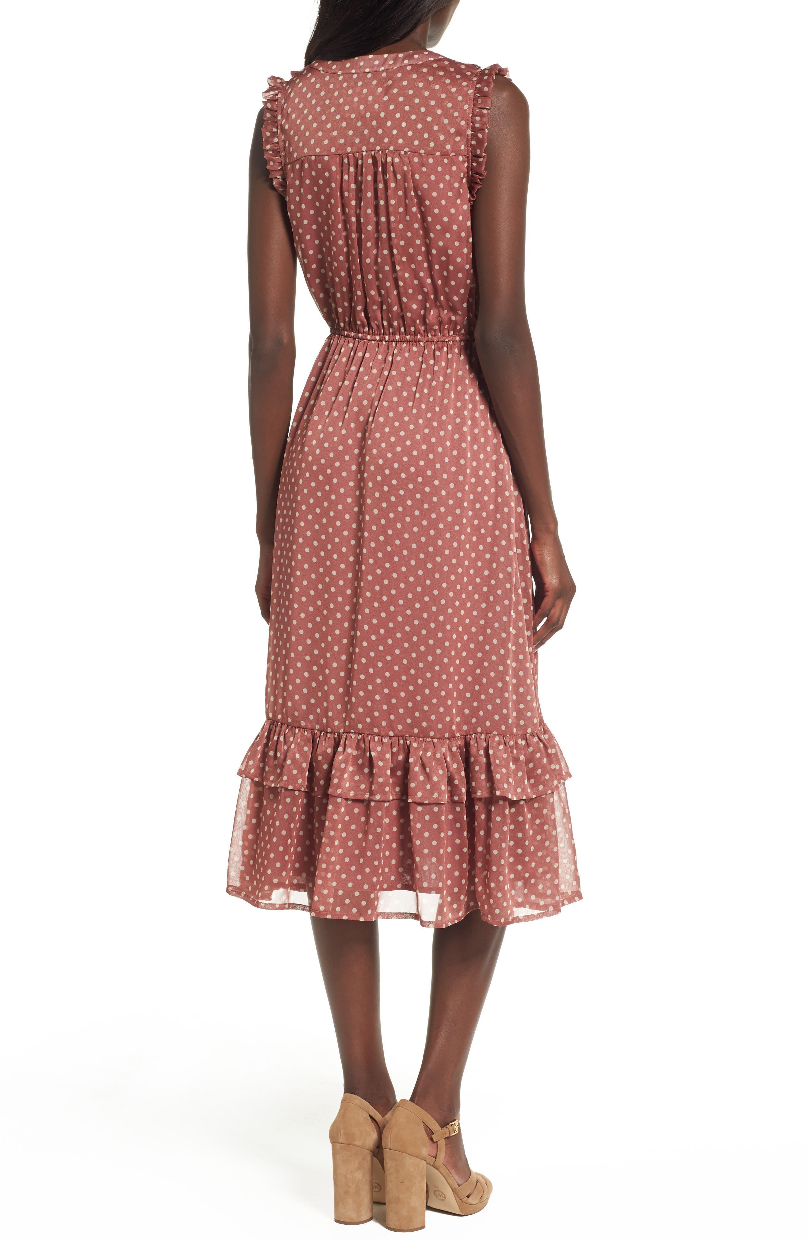 Alternate Image 3  - MOON RIVER Ruffle Midi Dress