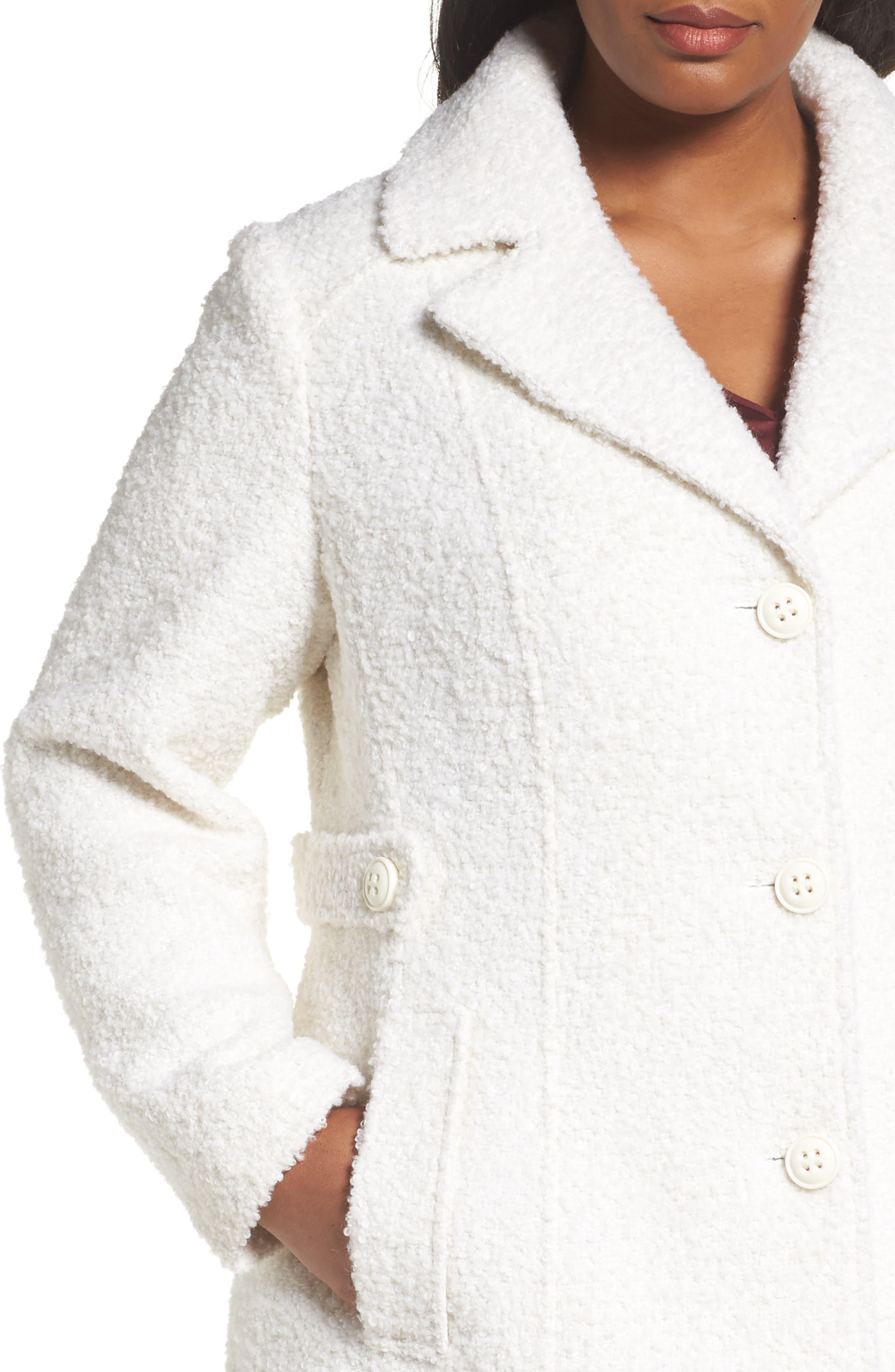 Alternate Image 4  - Gallery Bouclé Coat (Plus Size)