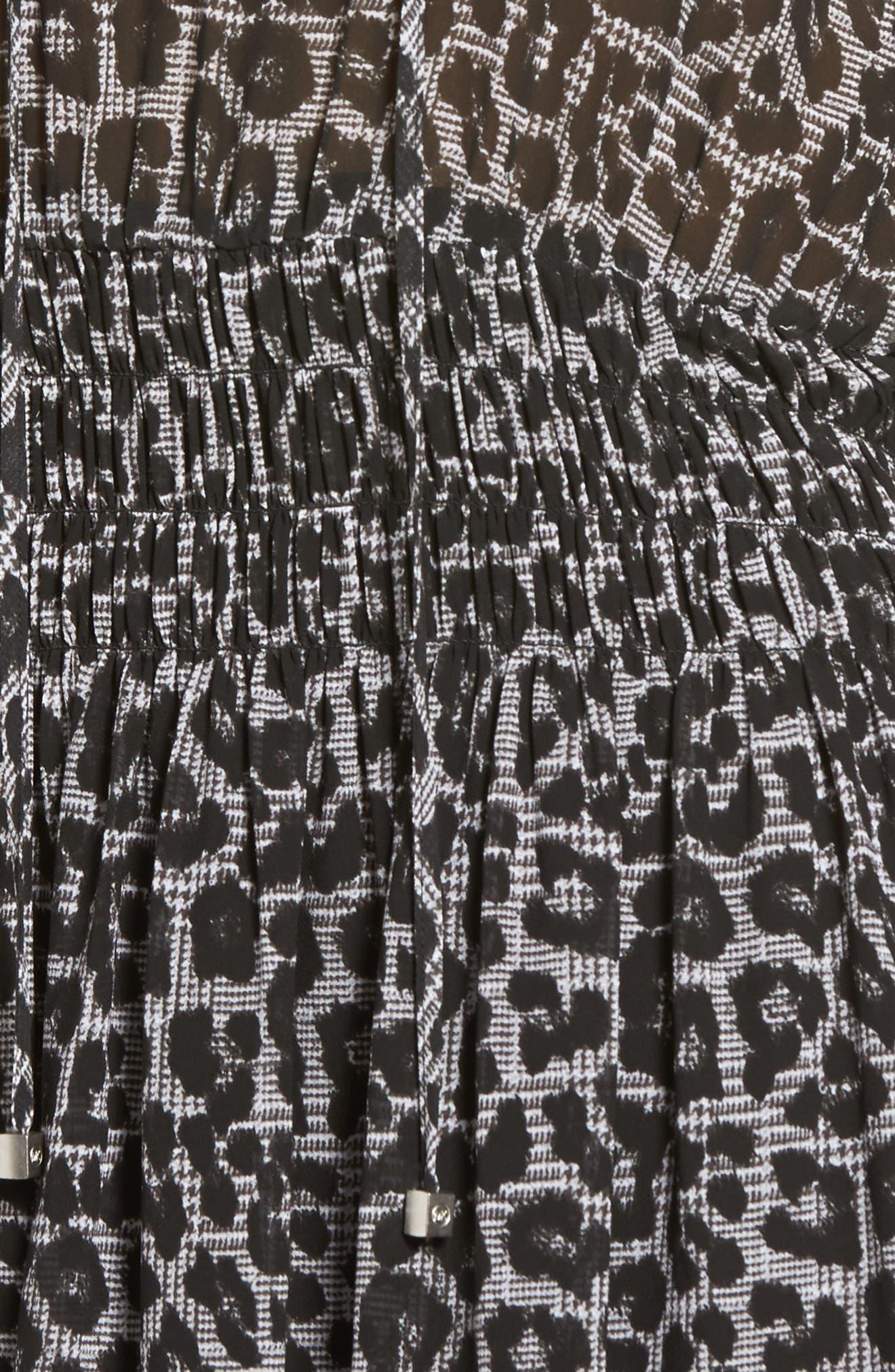 Alternate Image 5  - MICHAEL Michael Kors Leopard Cold Shoulder Midi Dress
