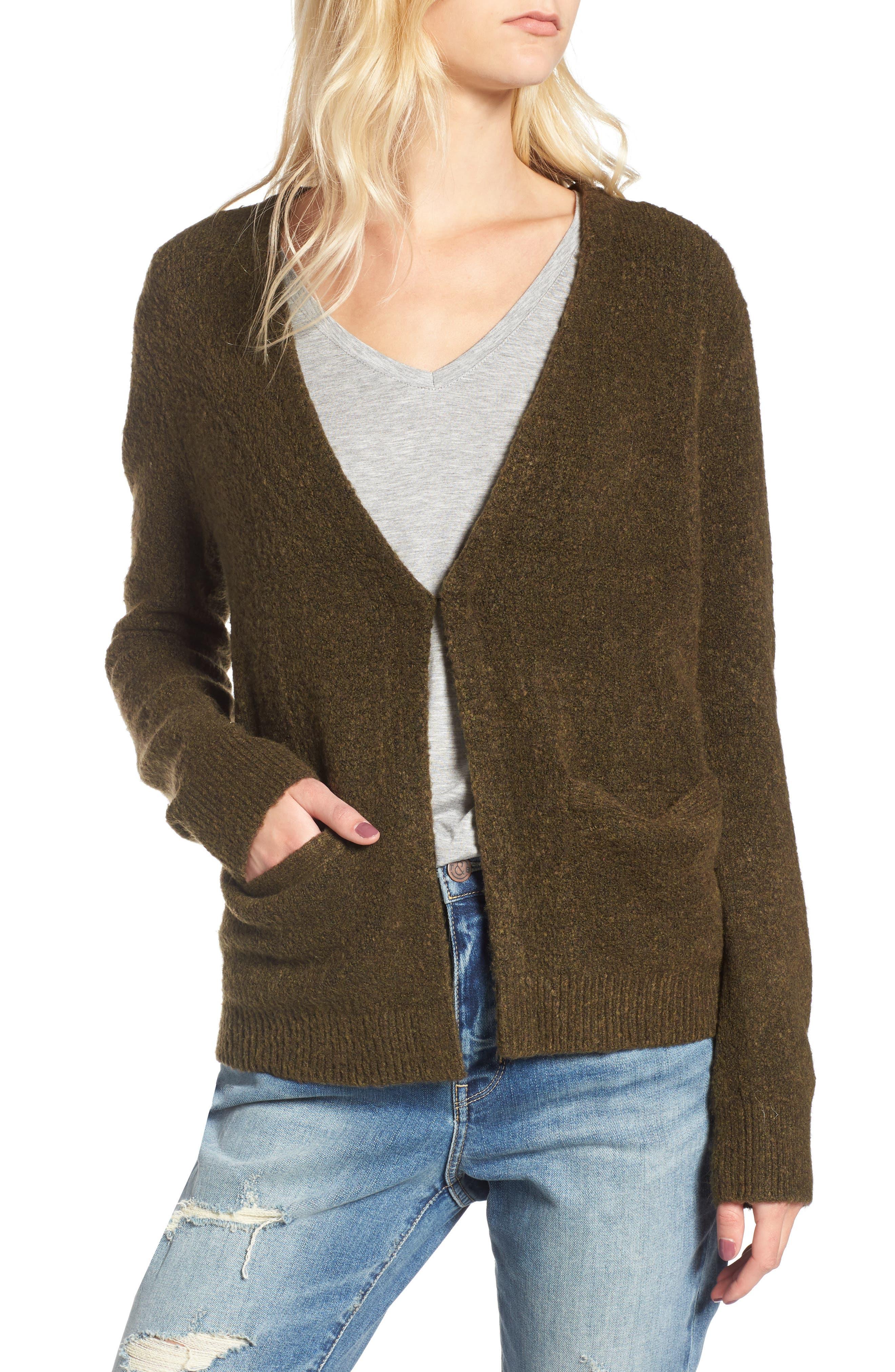 Alternate Image 4  - Hinge Faux Fur Collar Cardigan