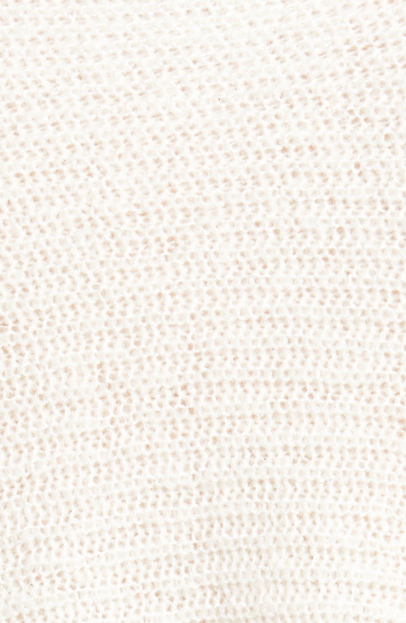 Flare Sleeve Sweater,                             Alternate thumbnail 6, color,                             Ivory Egret