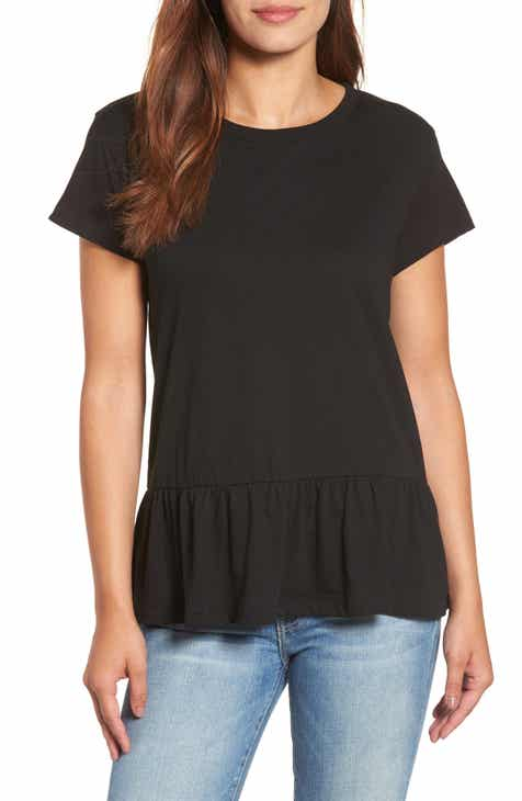 b56156be311f4 Caslon® Peplum Tee (Regular   Petite)