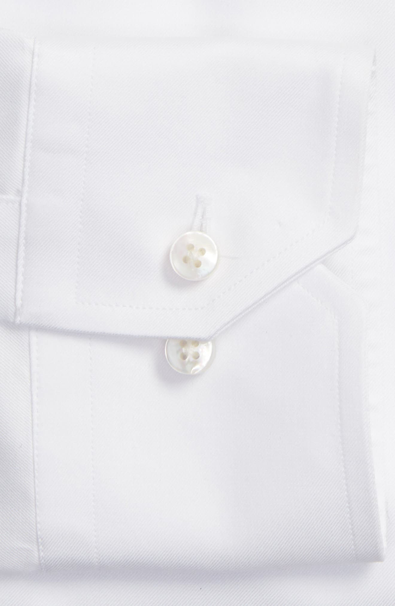 Tailored Fit Solid Dress Shirt,                             Alternate thumbnail 2, color,                             White