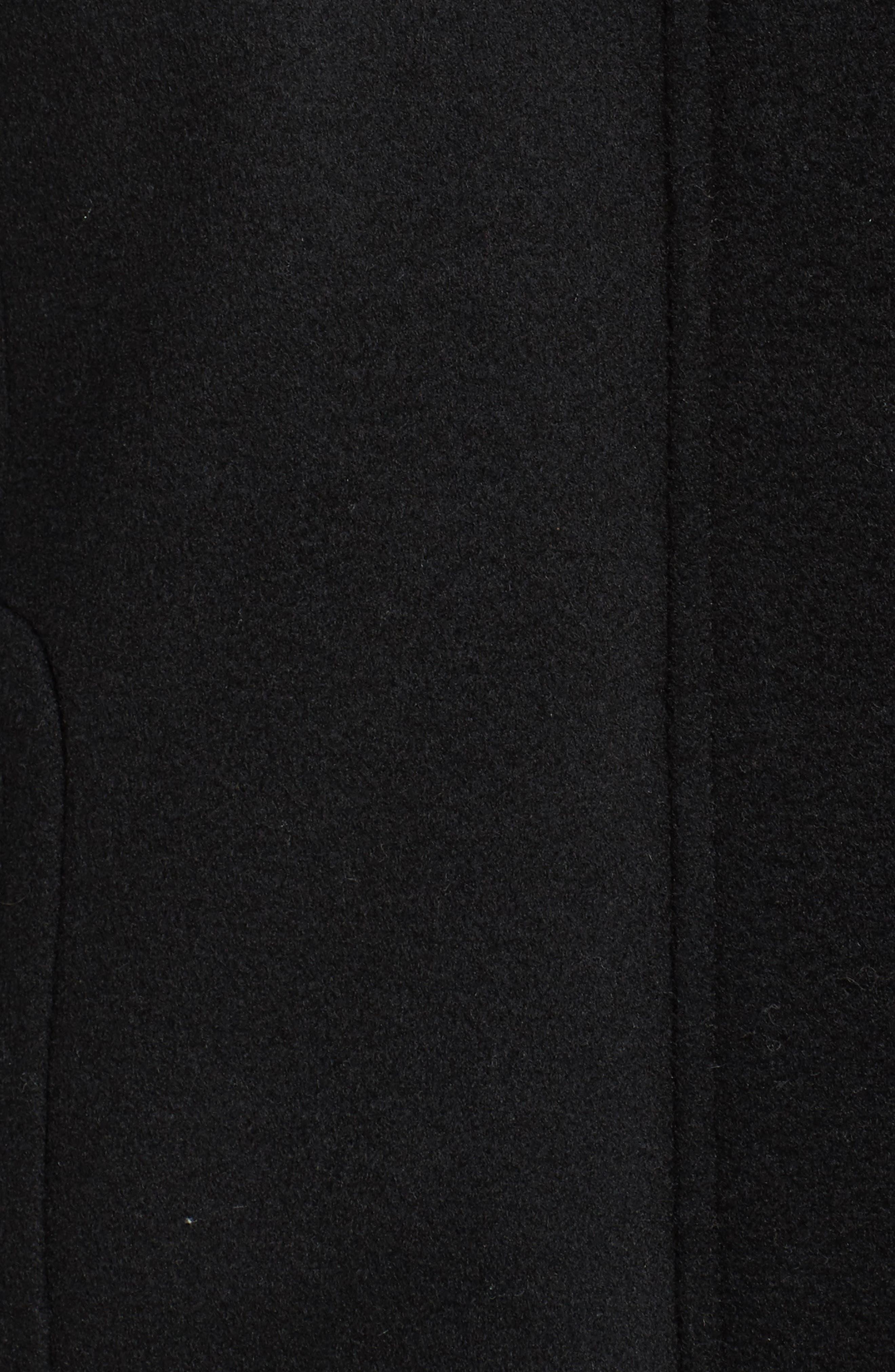 Alternate Image 5  - Sachi Hooded Wool Blend Coat with Genuine Fox Fur Trim (Regular & Petite)