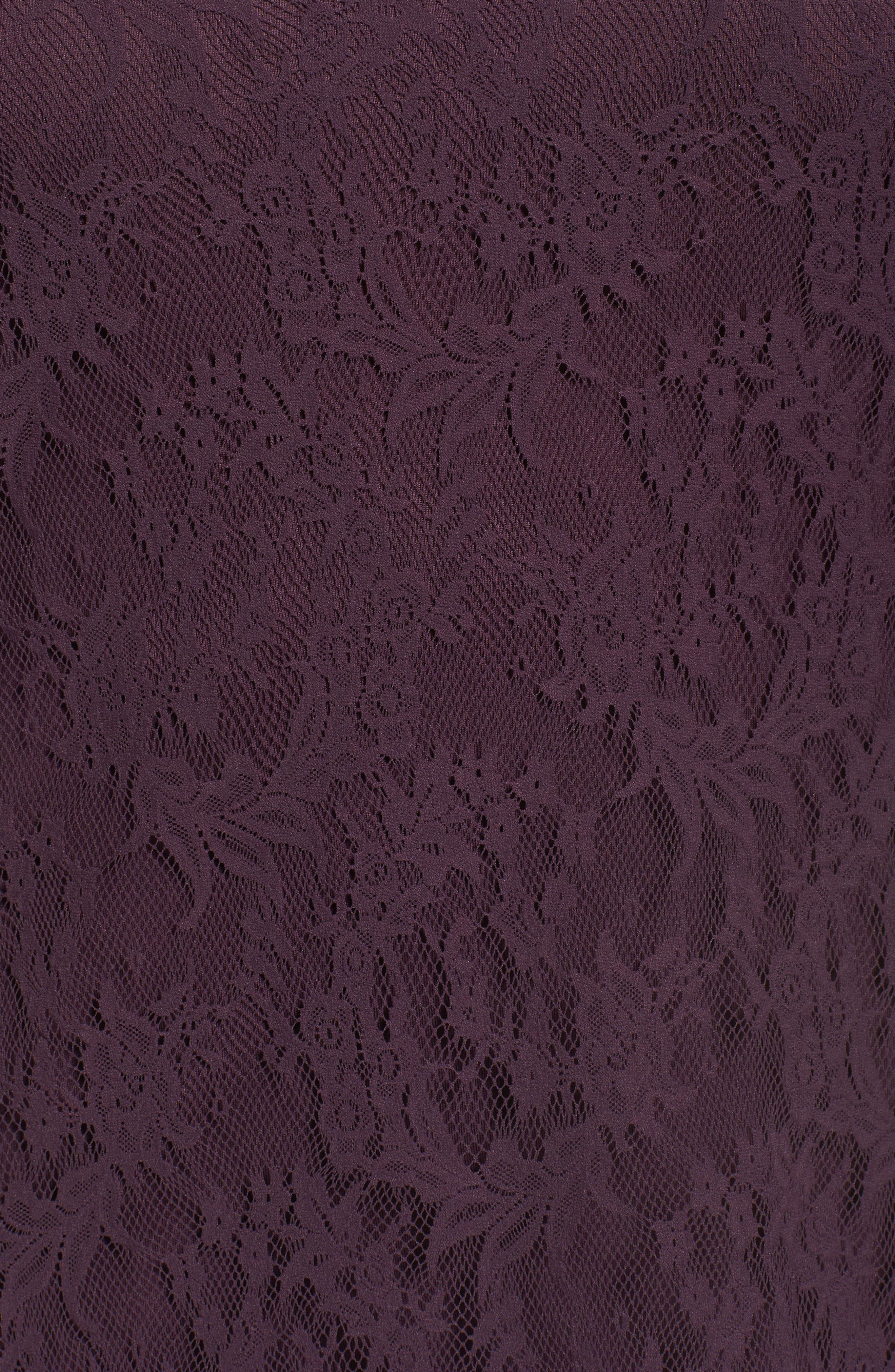 Alternate Image 5  - Sejour Lace Illusion Top (Plus Size)