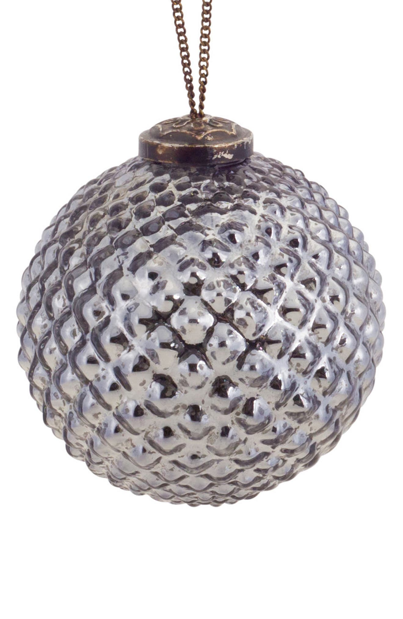 Melrose Gifts Round Glass Ornament