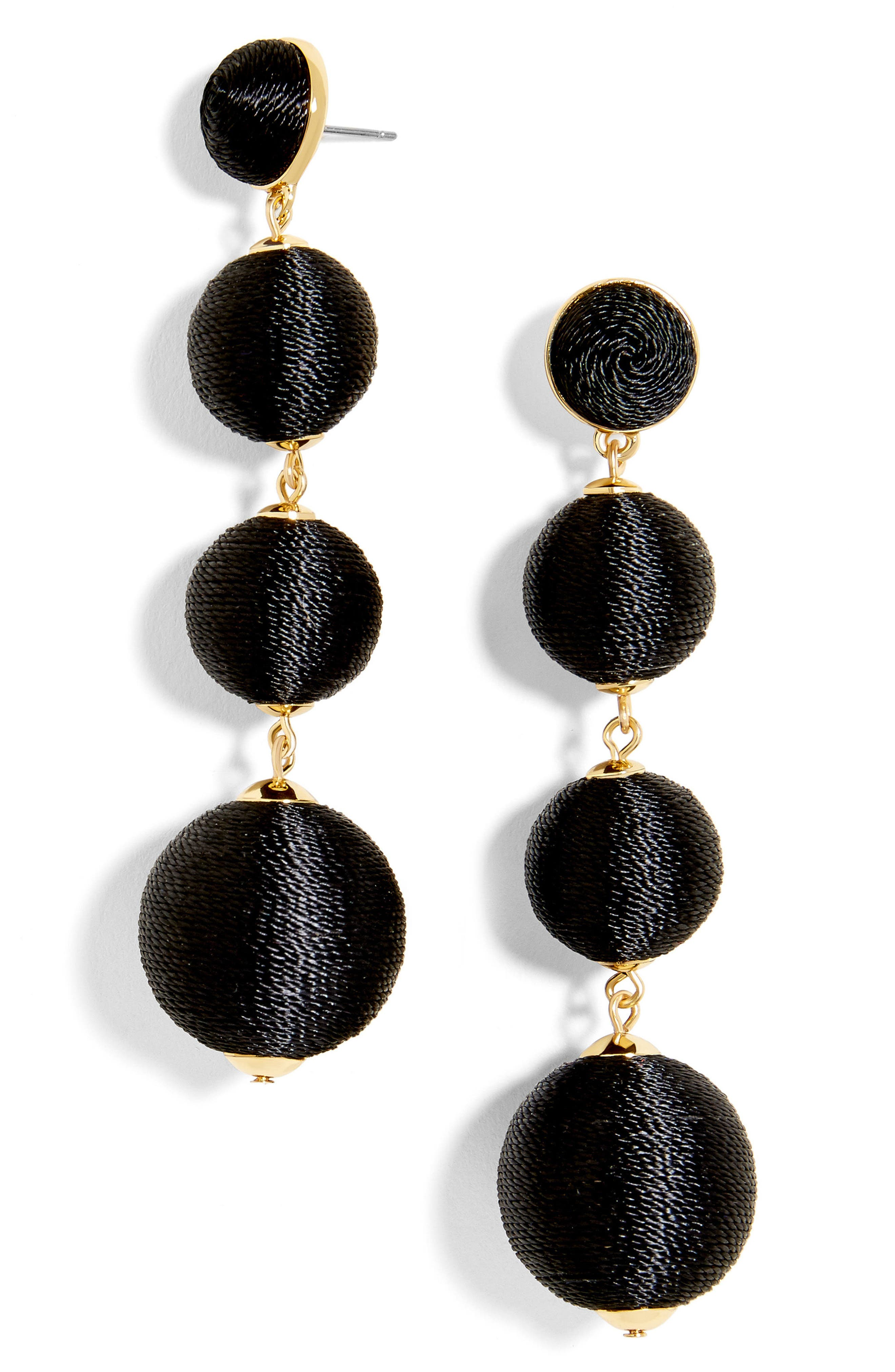Criselda Ball Shoulder Duster Earrings,                         Main,                         color, Black