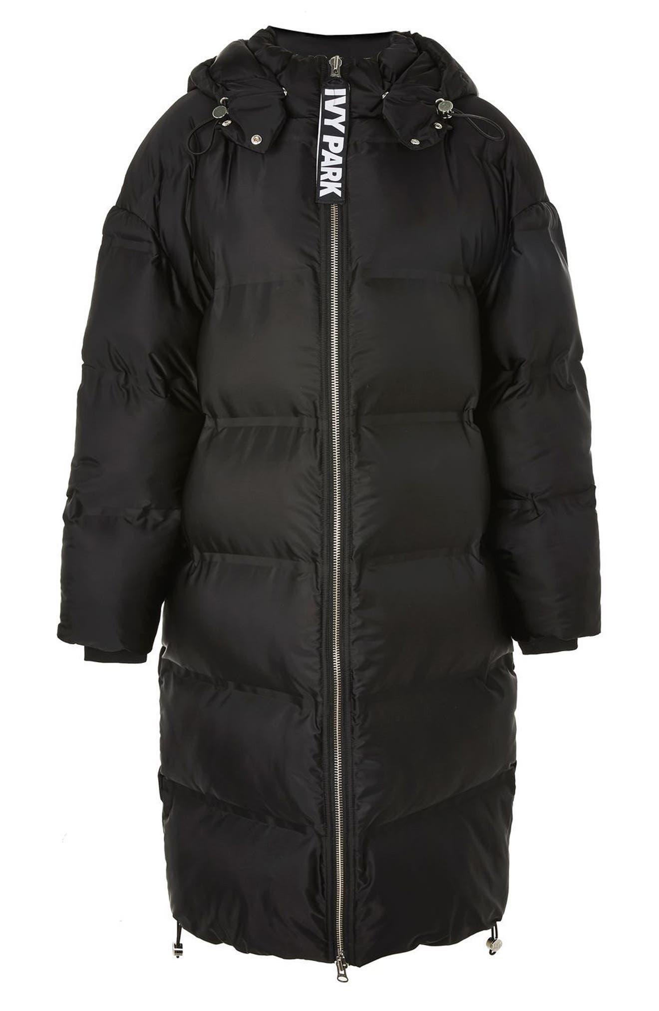 Longline Bonded Puffer Jacket,                         Main,                         color, Black