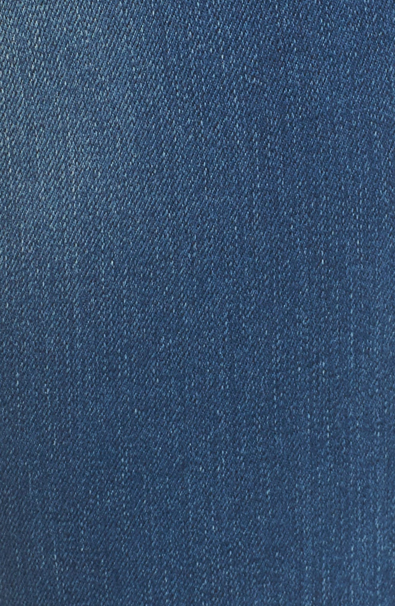 Stella Low Rise Skinny Jeans,                             Alternate thumbnail 5, color,                             Nu Authentic Indigo