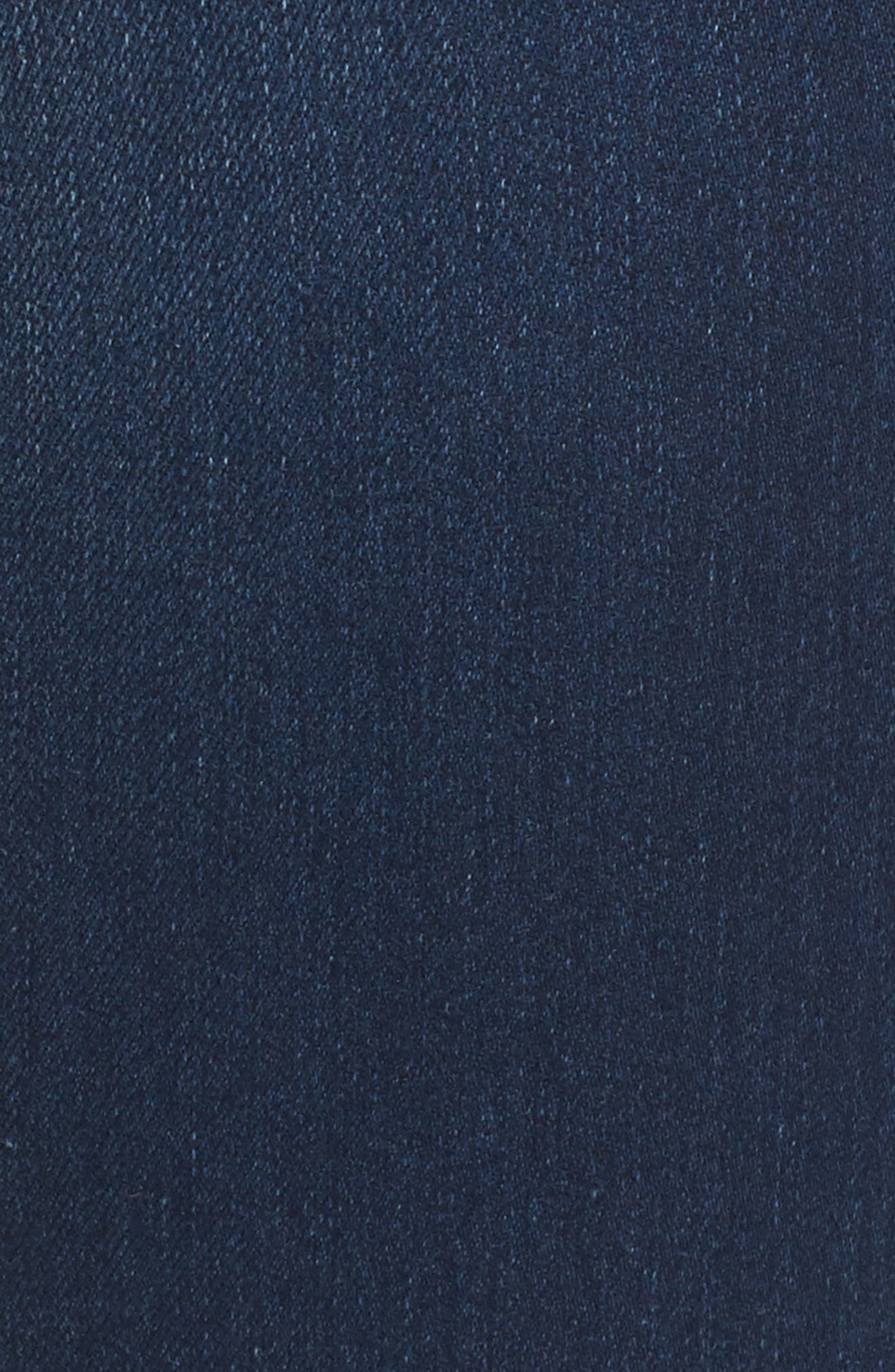 Halle Mid Rise Skinny Jeans,                             Alternate thumbnail 5, color,                             Lands End Indigo