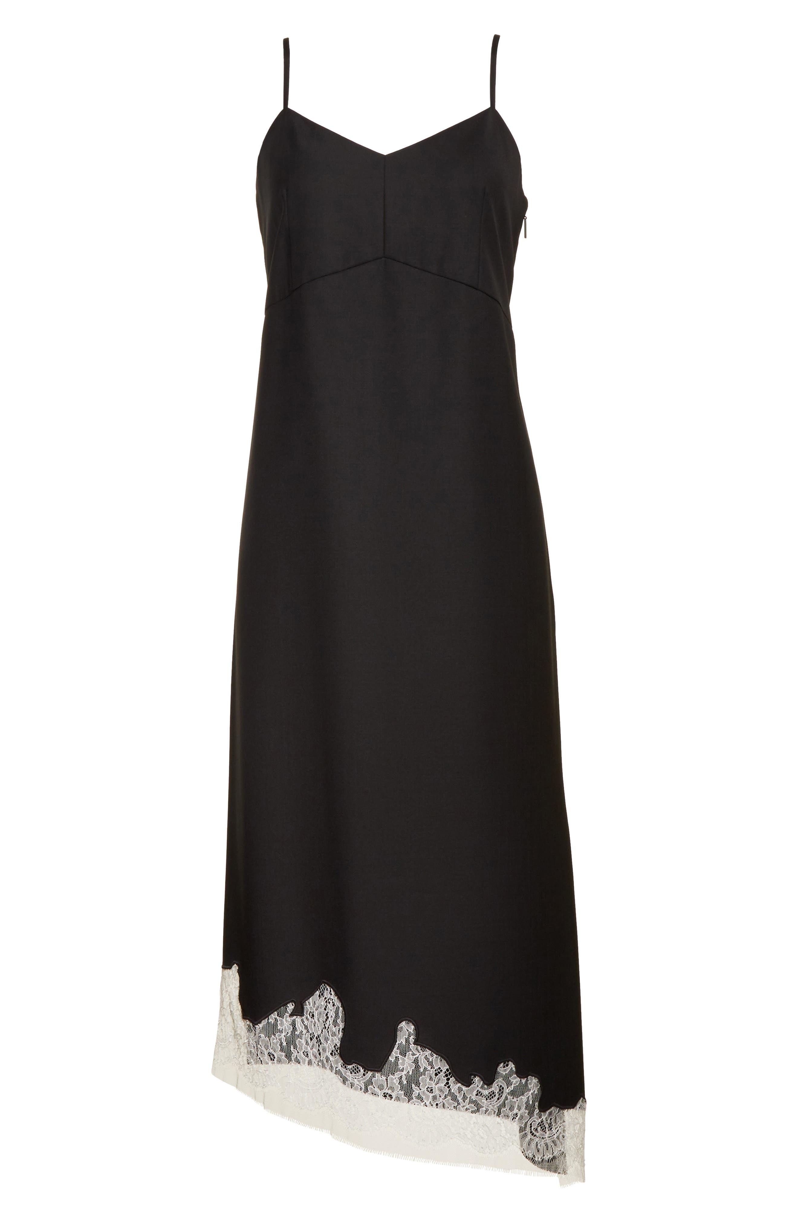 Lou Lou Appliqué Dress,                             Alternate thumbnail 6, color,                             Black