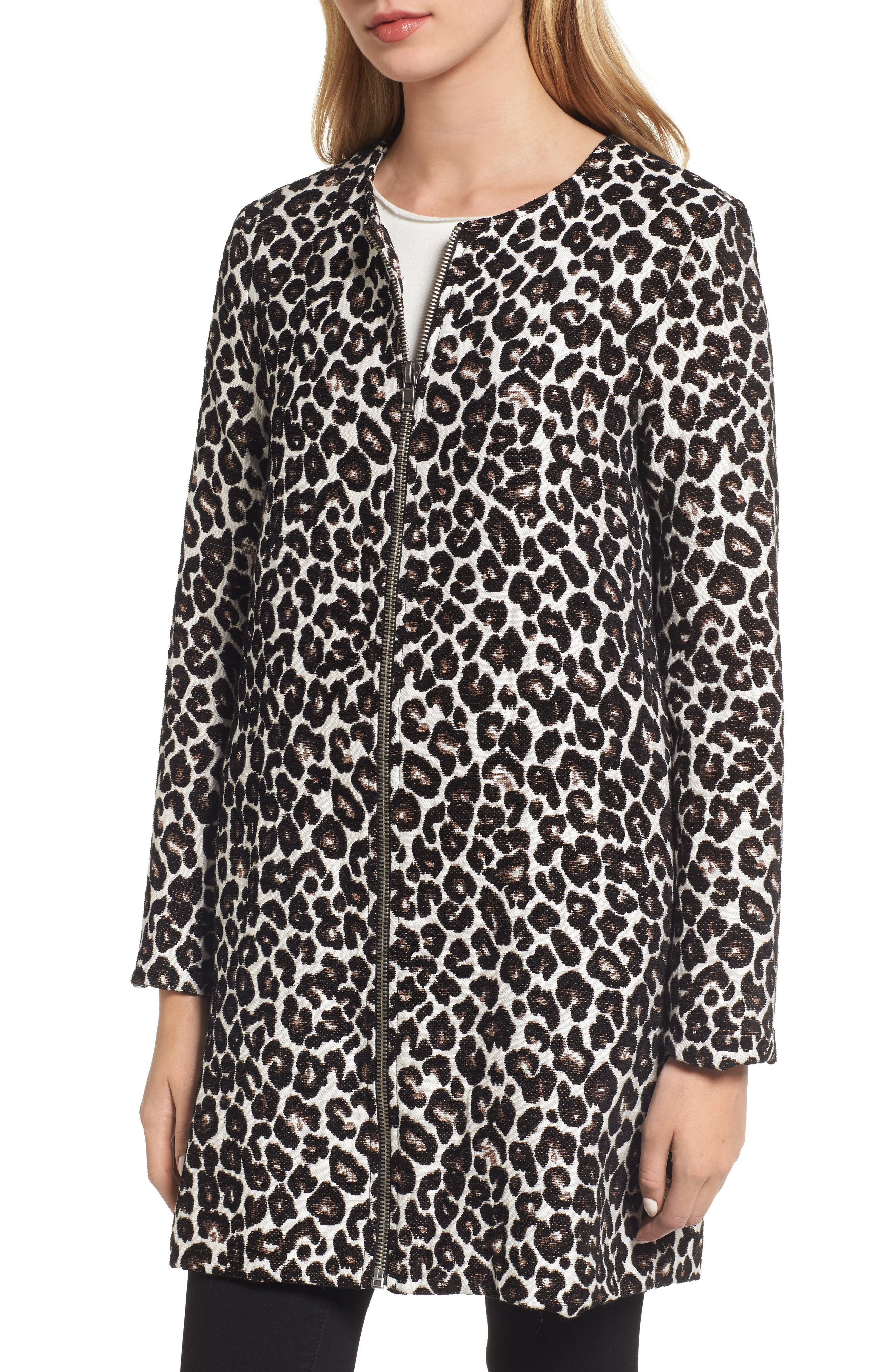 Alternate Image 4  - cupcakes and cashmere Adeltia Leopard Print Jacket