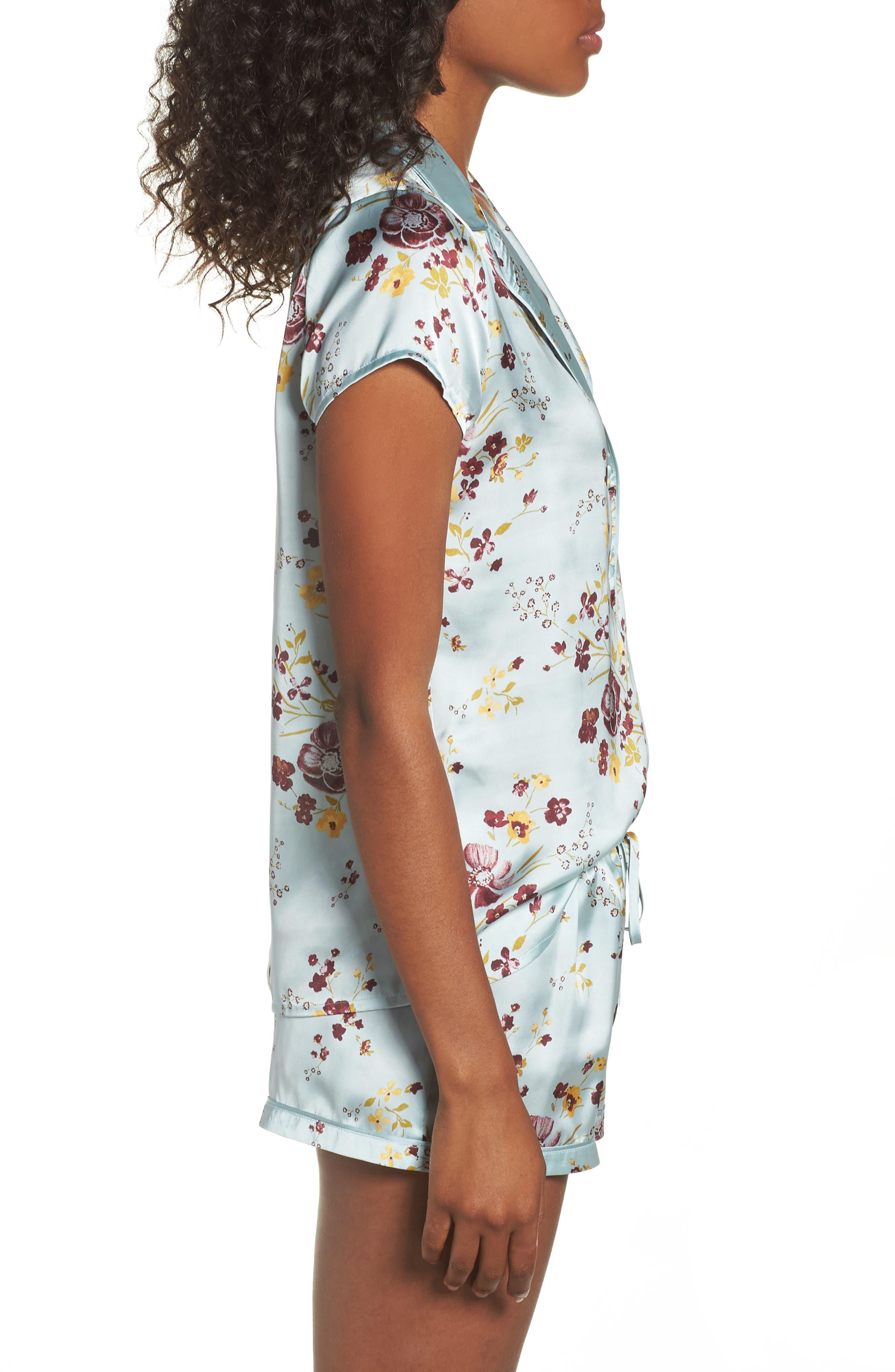 Alternate Image 3  - Chelsea28 Satin Pajamas