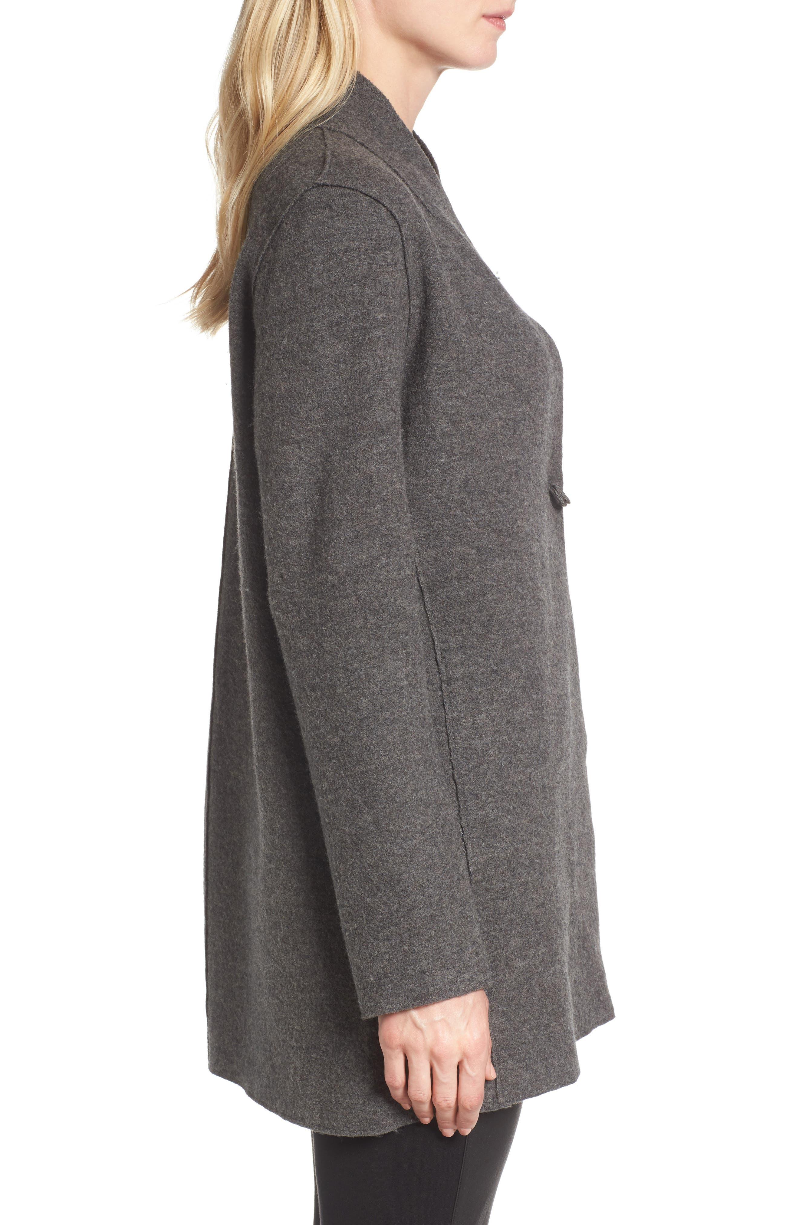 Alternate Image 3  - Eileen Fisher Boiled Wool Jacket