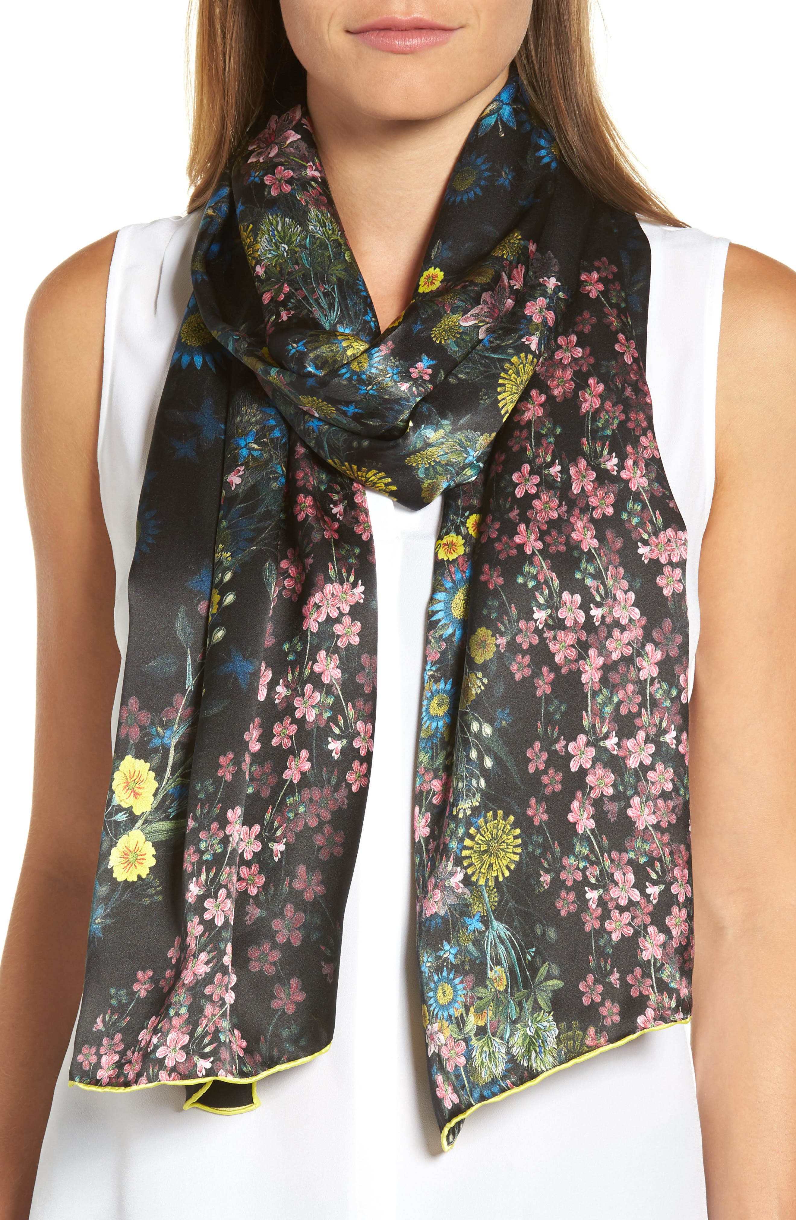 Alternate Image 1 Selected - Ted Baker London Unity Floral Silk Scarf