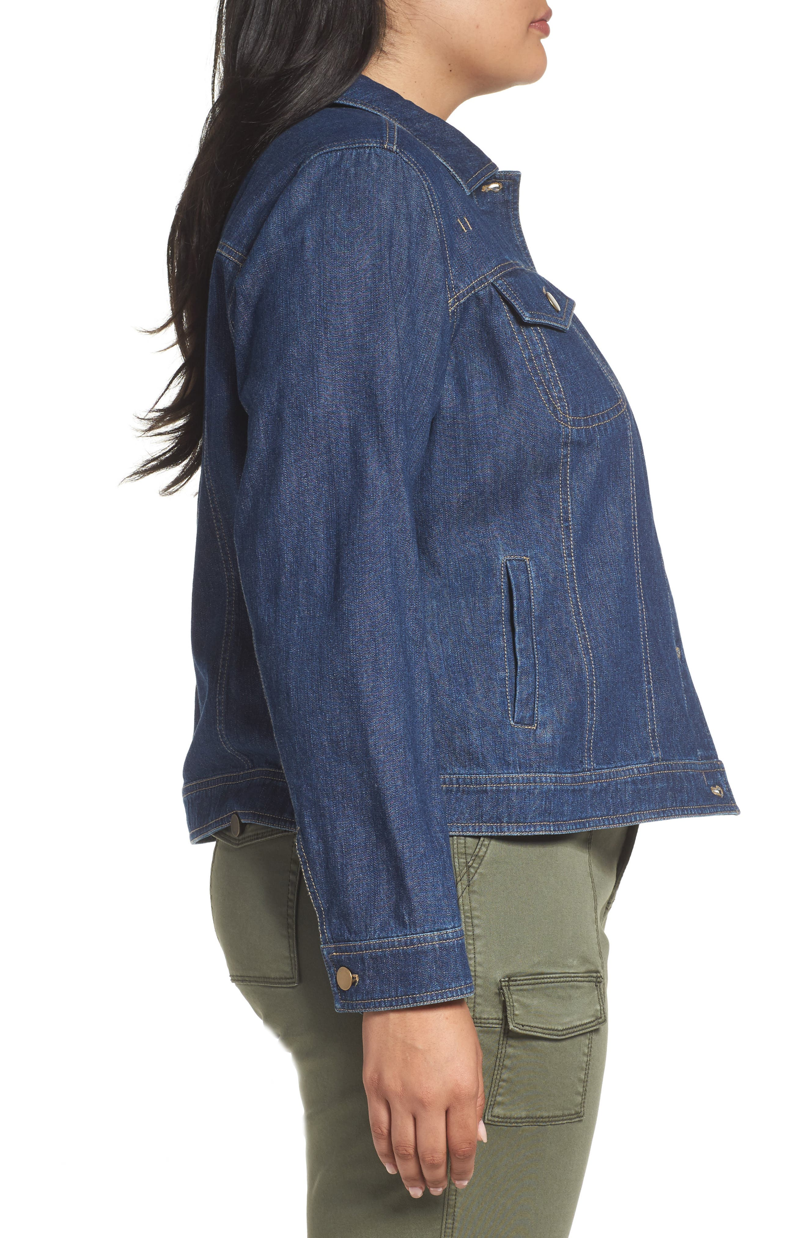 Alternate Image 3  - Sejour Denim Jacket (Plus Size)