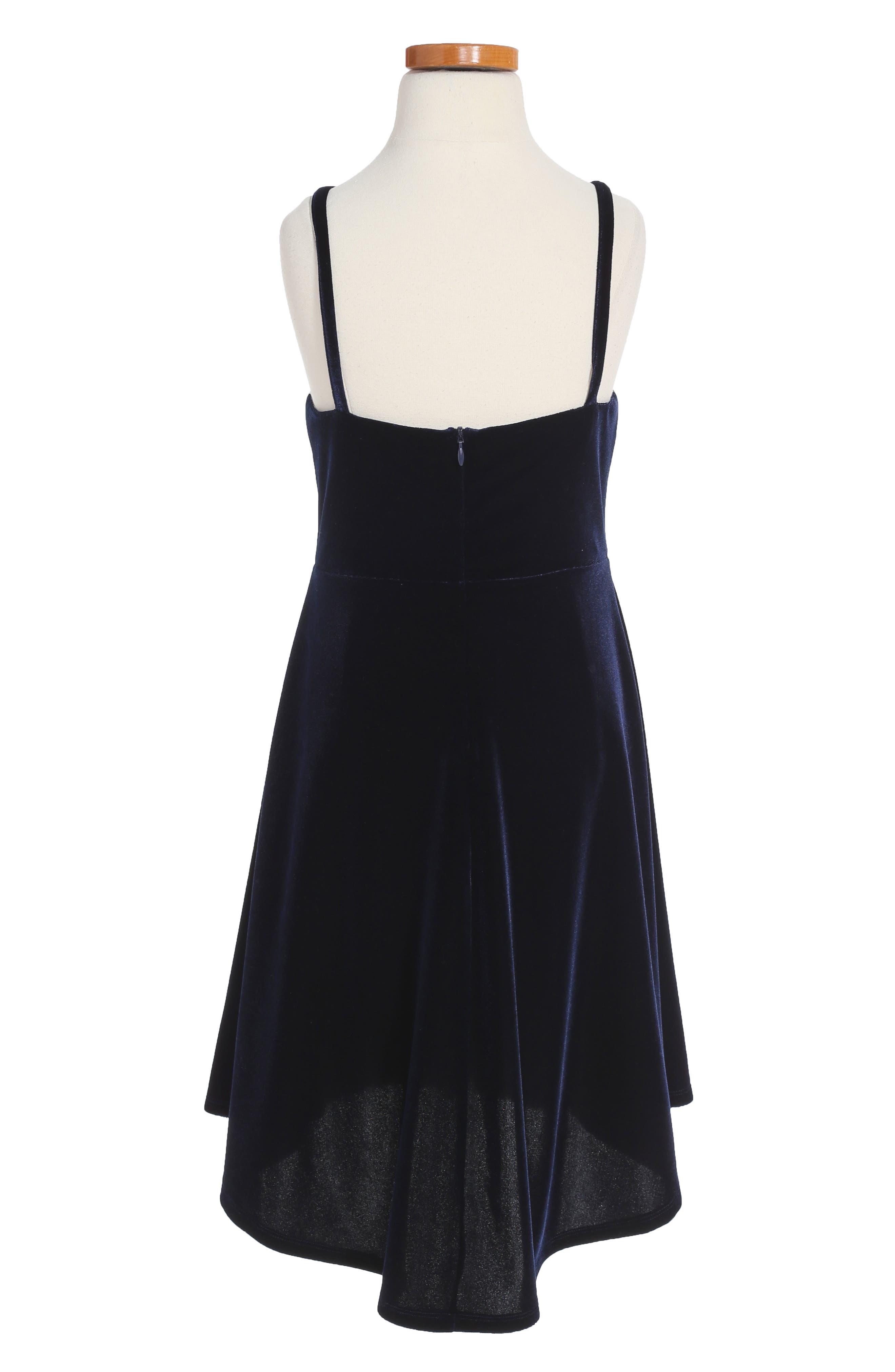 Alternate Image 2  - Bardot Junior Velvet Skater Dress (Big Girls)