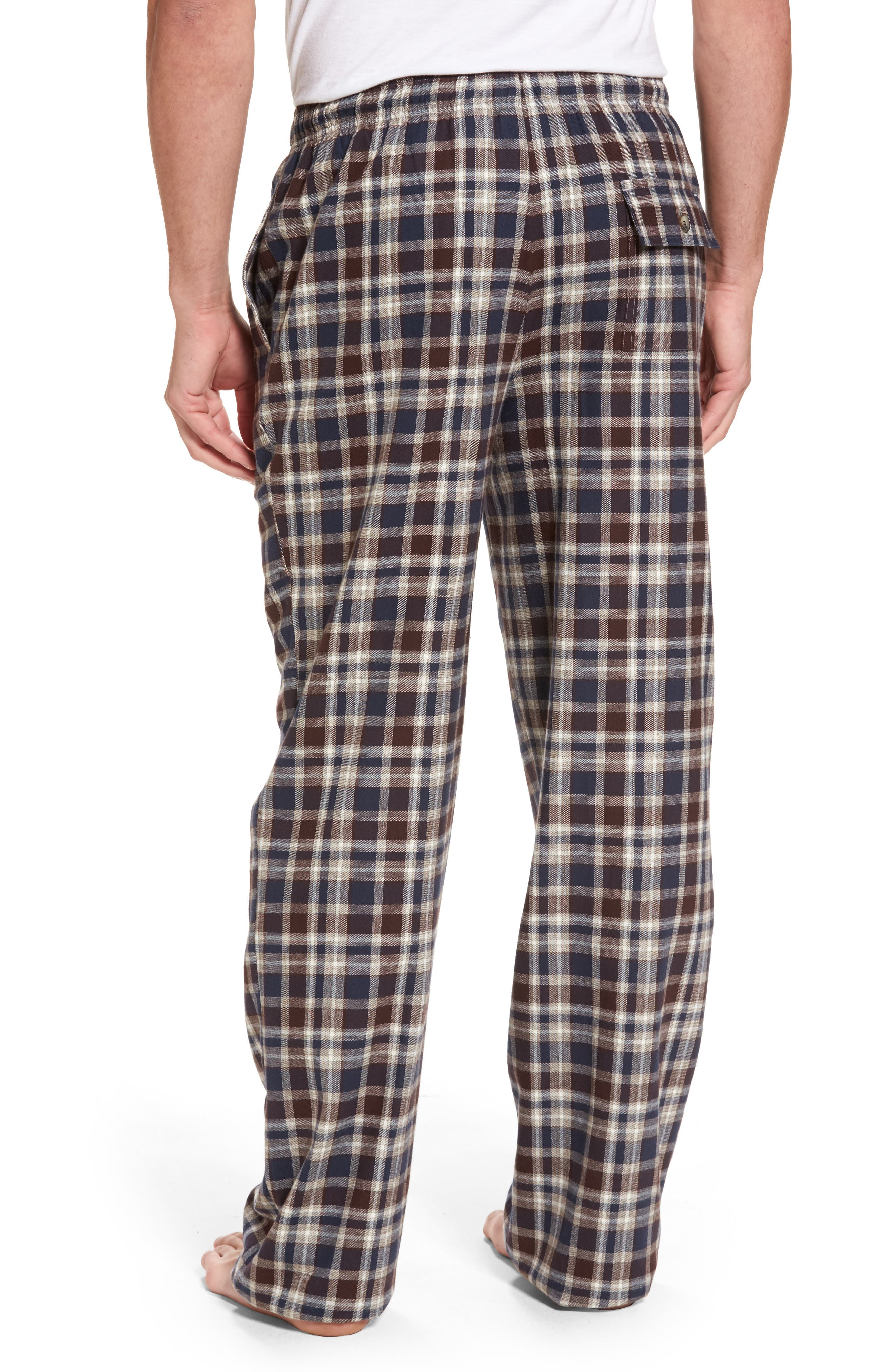 Alternate Image 2  - Majestic International Bryson Plaid Flannel Lounge Pants