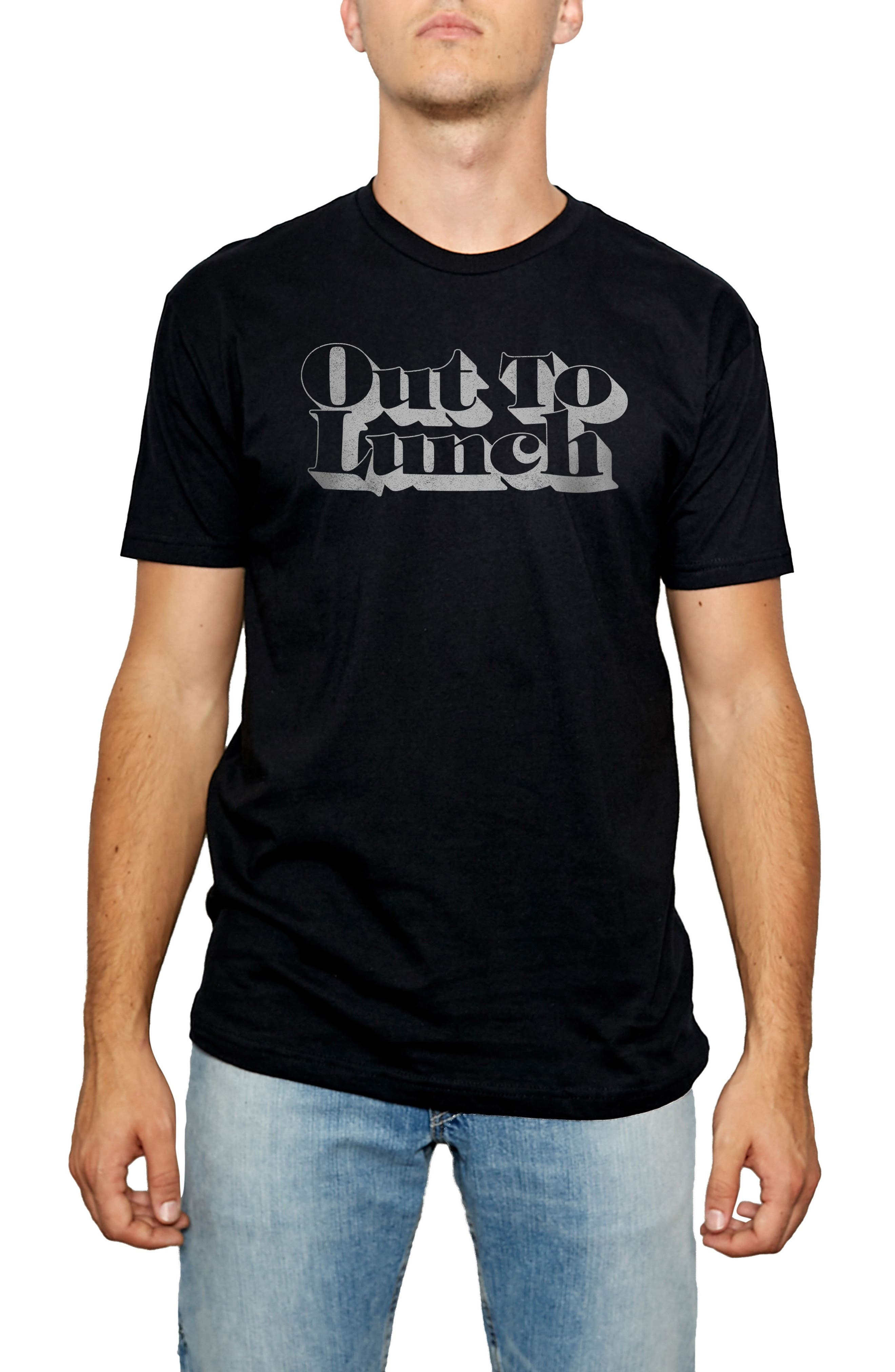 Out to Lunch Graphic T-Shirt,                         Main,                         color, Black