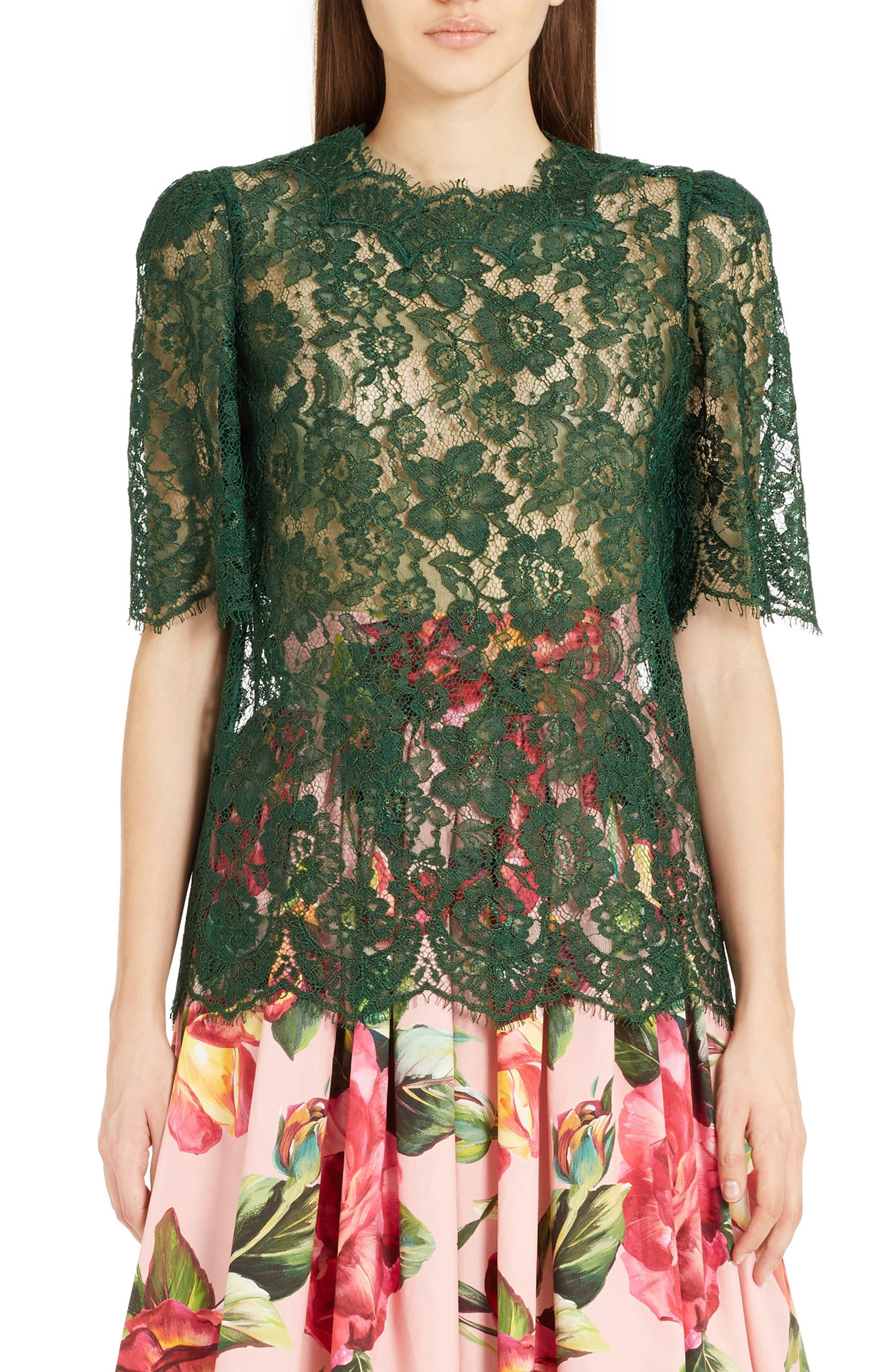 Main Image - Dolce&Gabbana Lace Top