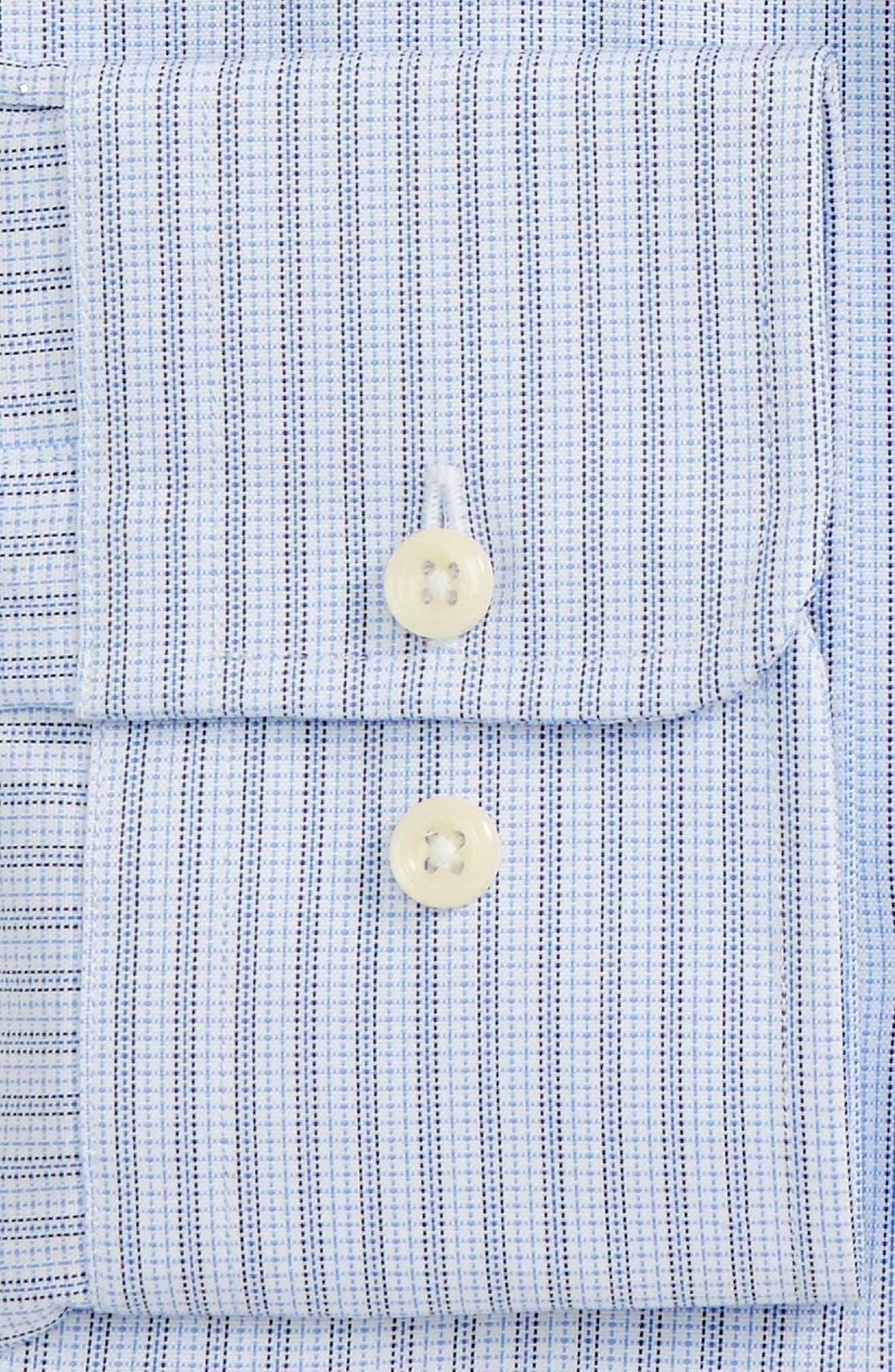 Regular Fit Stripe Dress Shirt,                             Alternate thumbnail 2, color,                             Sky/ Navy