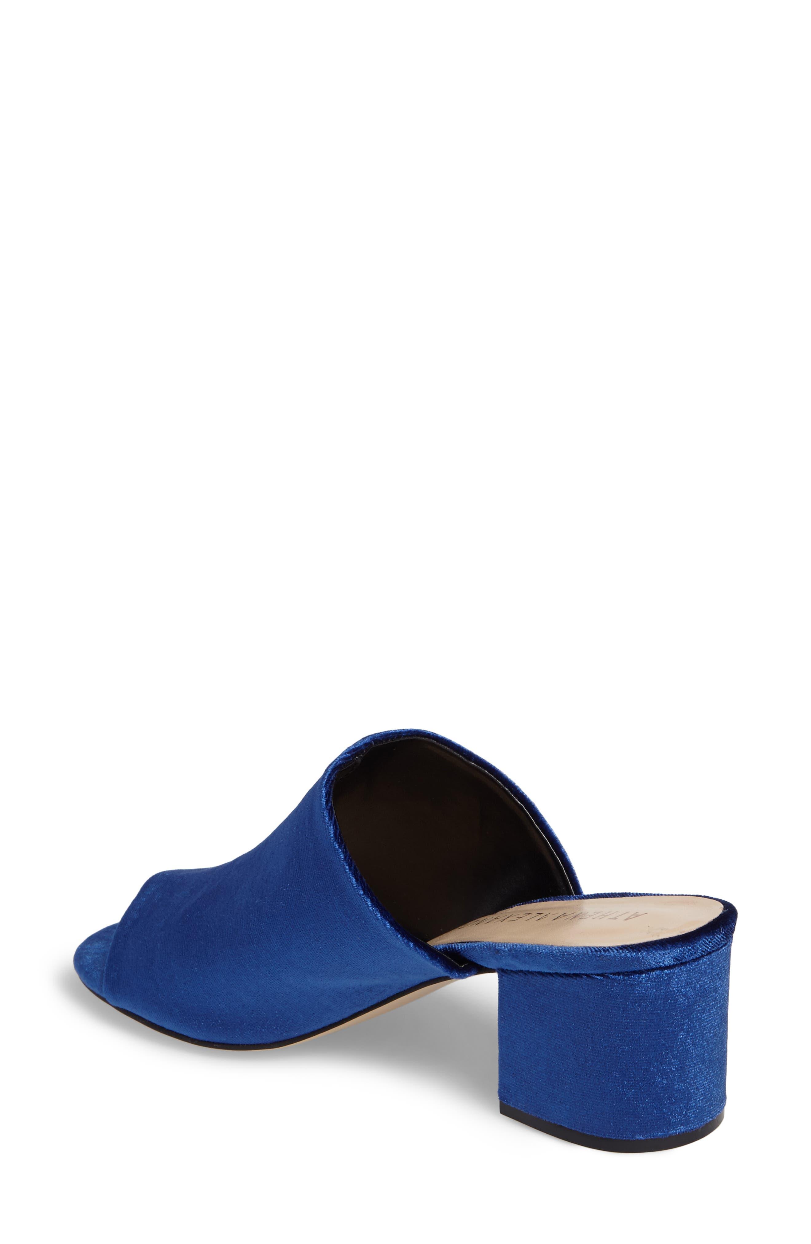 Robyne Slide Sandal,                             Alternate thumbnail 2, color,                             Navy Velvet