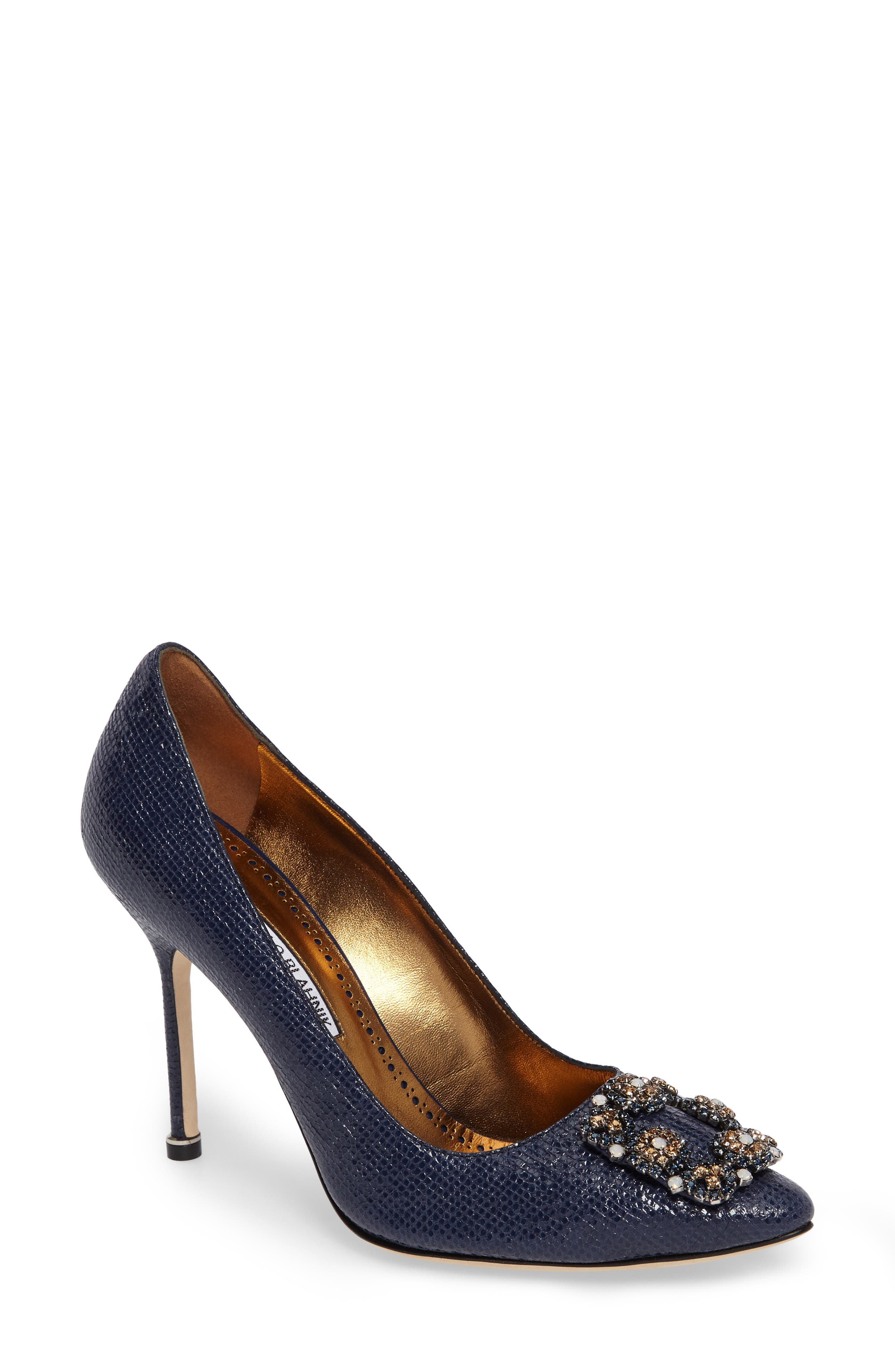Manolo Blahnik Hangisi Jeweled Pump (Women)