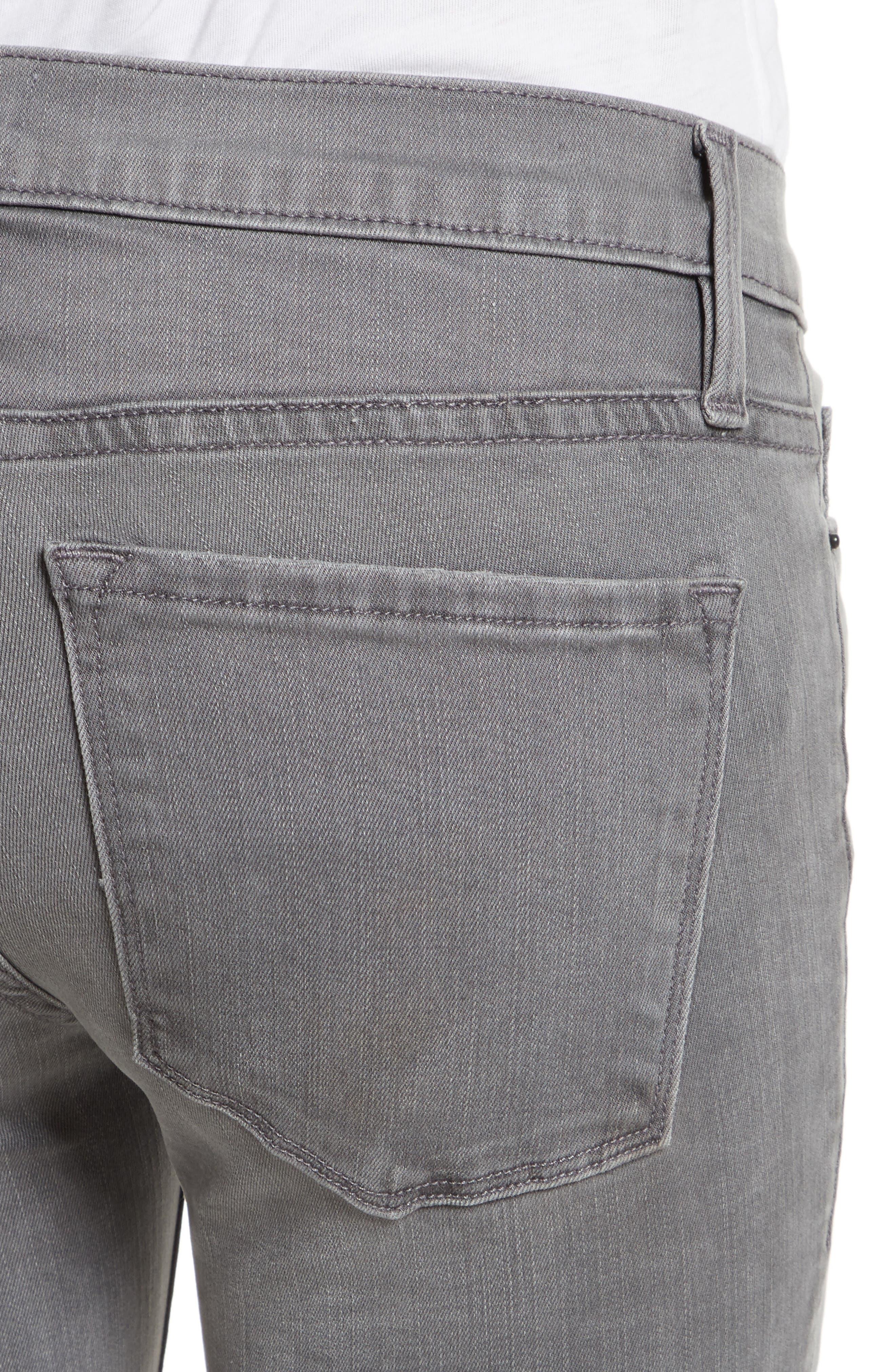 Le Skinny De Jeanne Double Hem Skinny Jeans,                             Alternate thumbnail 4, color,                             Maralago