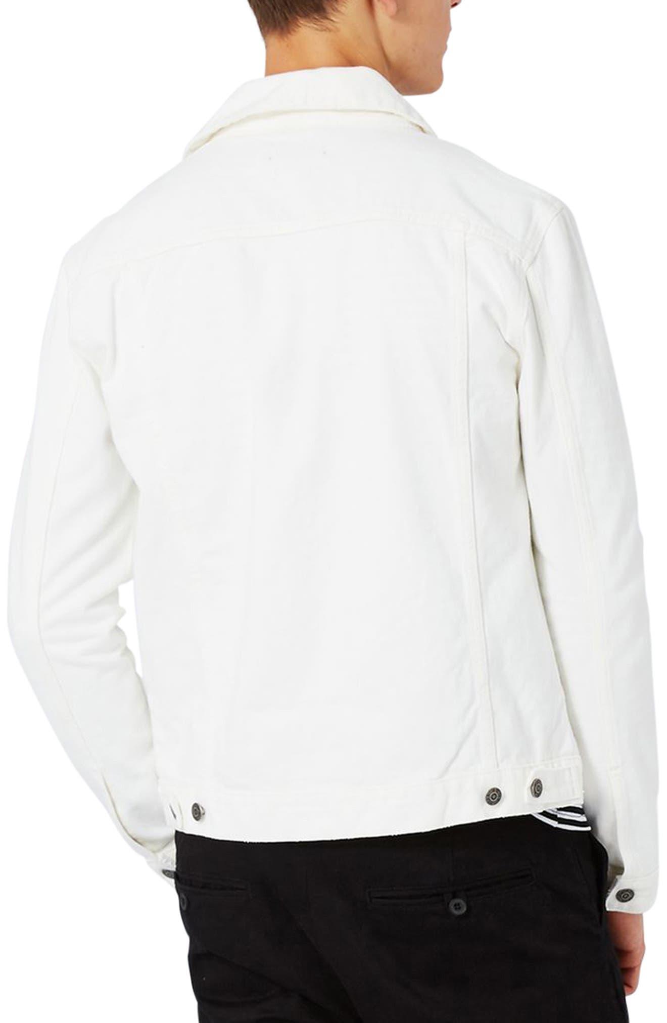 Alternate Image 2  - Topman White Denim Western Jacket