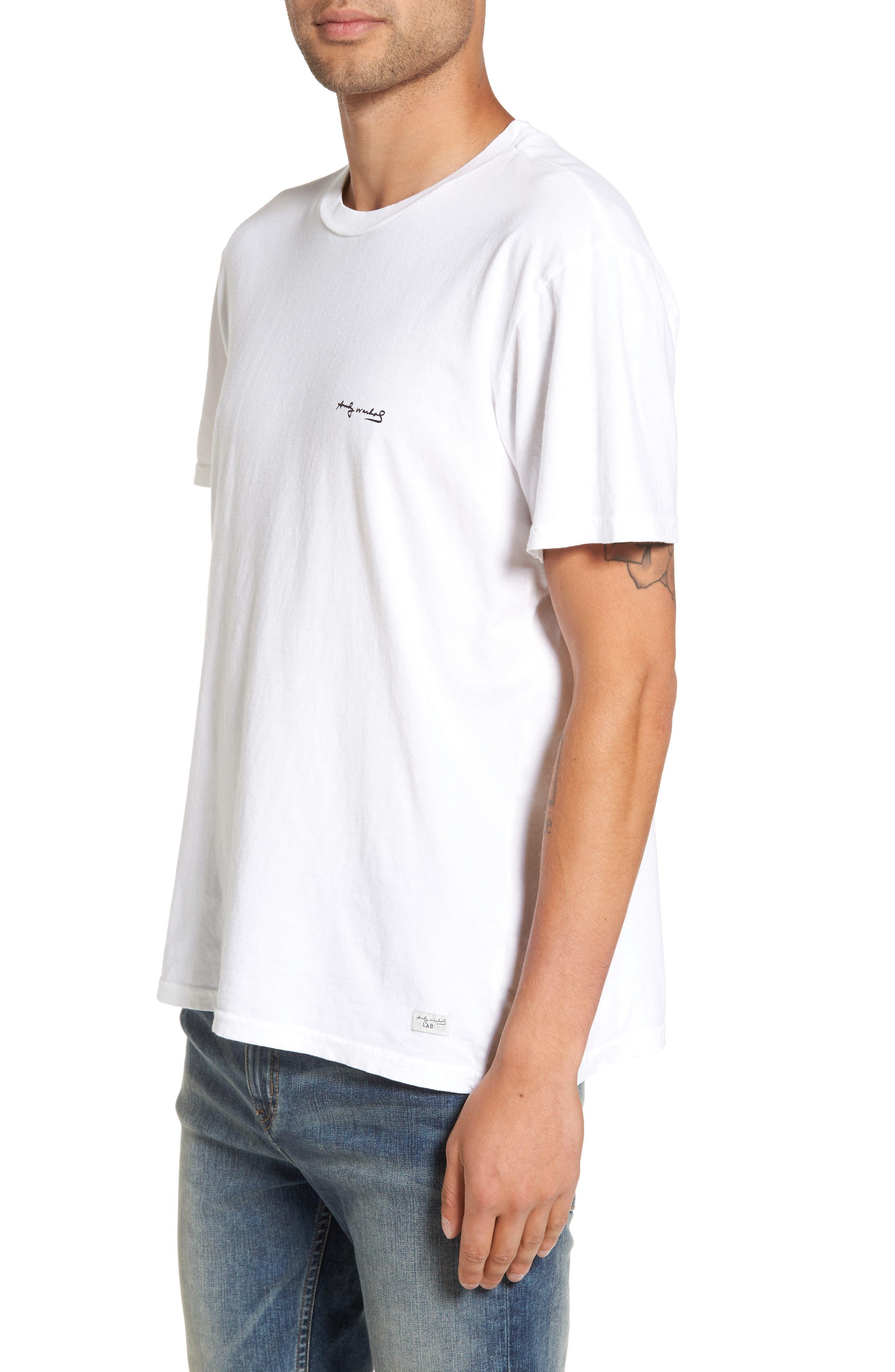 Flowers T-Shirt,                             Alternate thumbnail 3, color,                             Vintage White