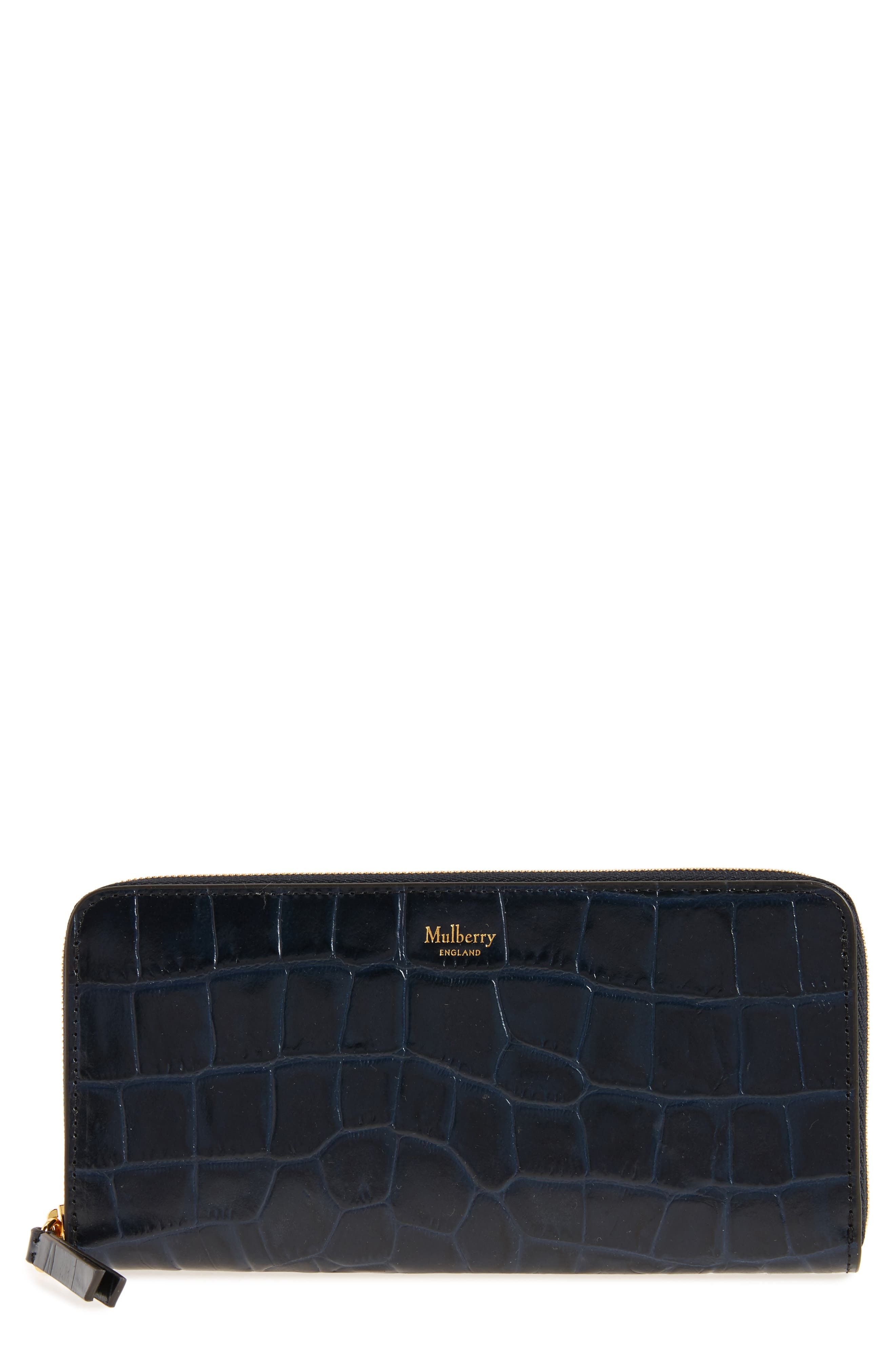 Mulberry Zip Around Leather Wallet