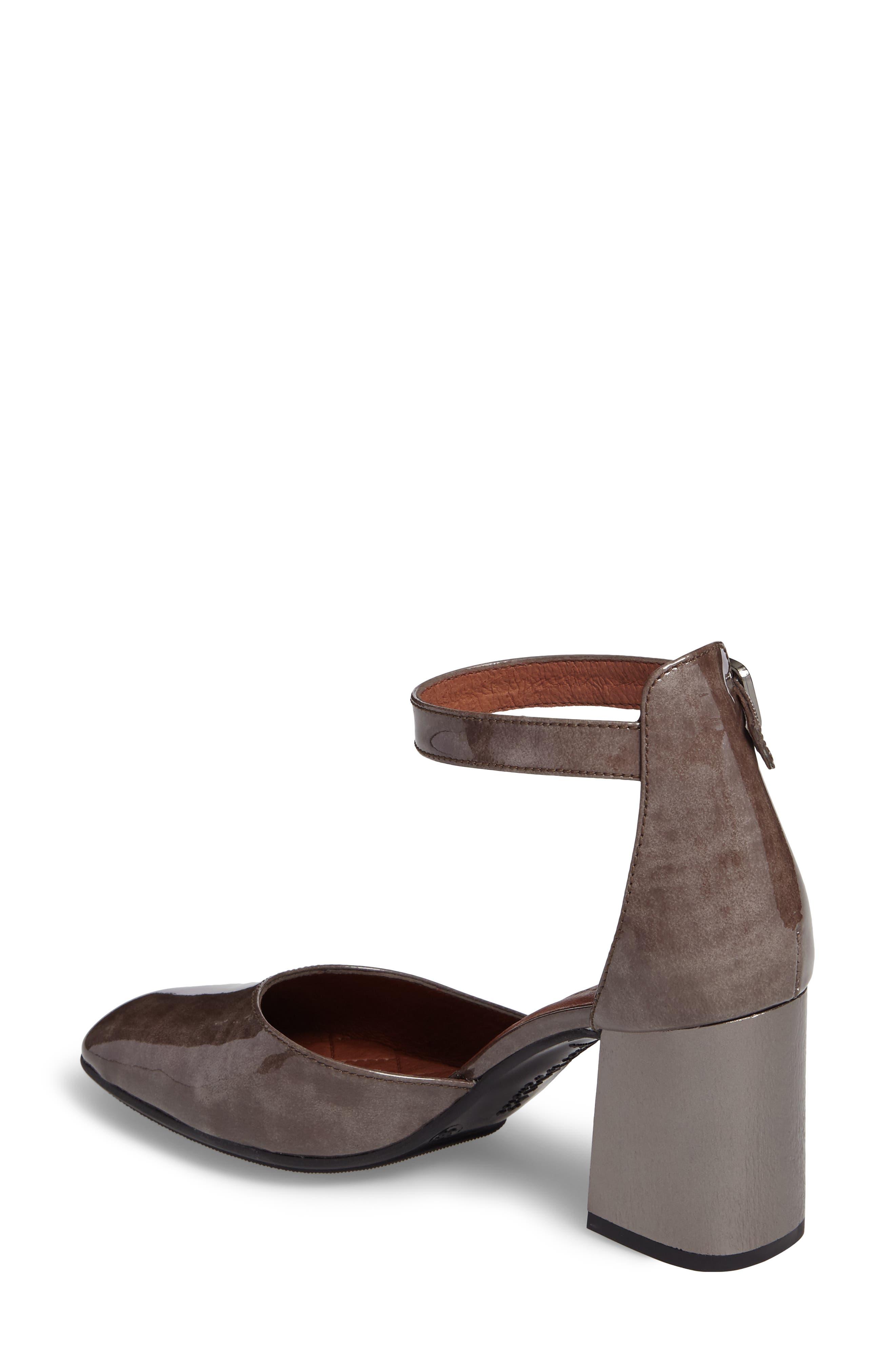 Paulette Flared Heel Pump,                             Alternate thumbnail 2, color,                             Vision Leather