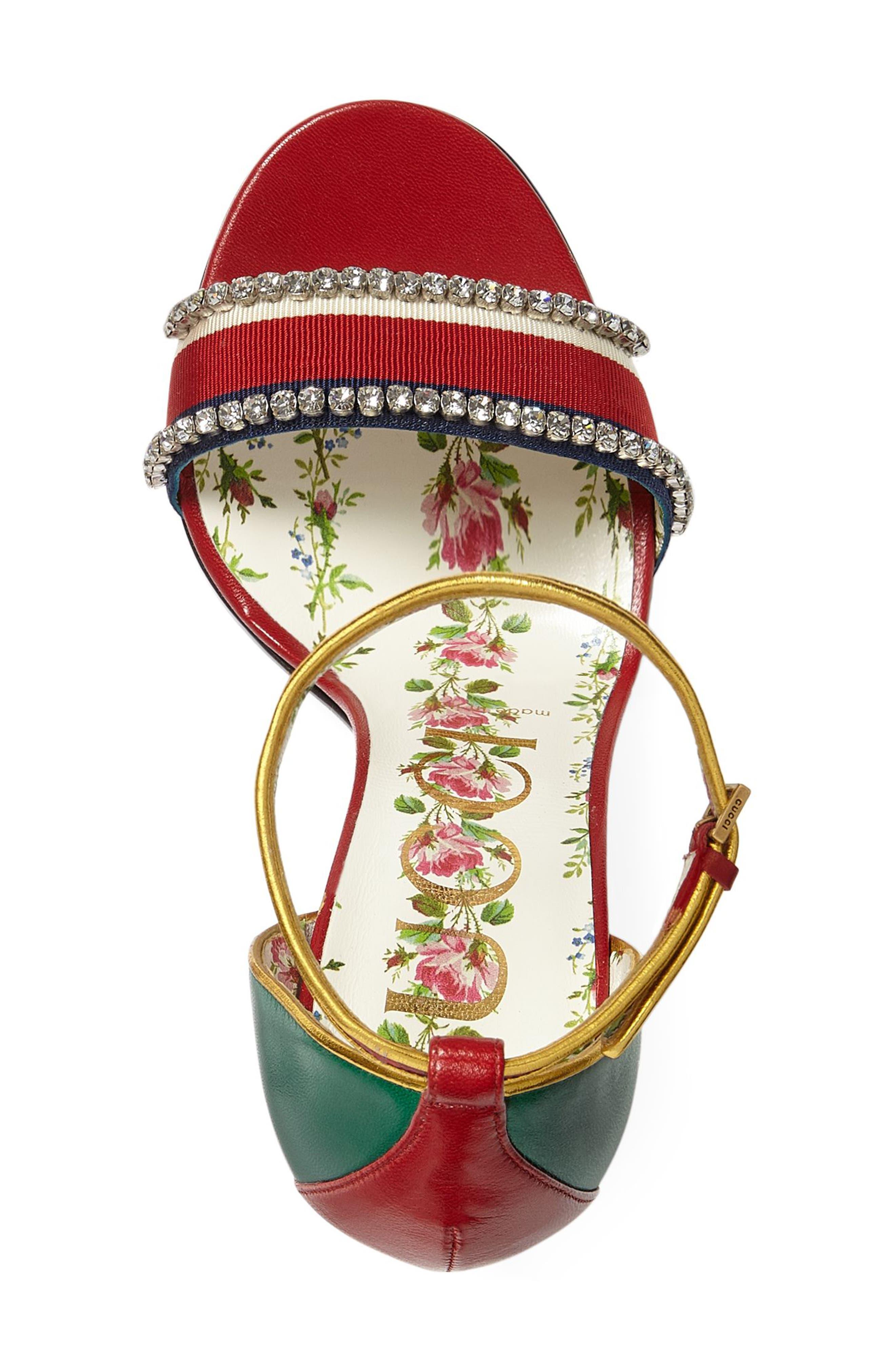 Alternate Image 3  - Gucci Ilse Crystal Embellished Ankle Strap Sandal (Women)