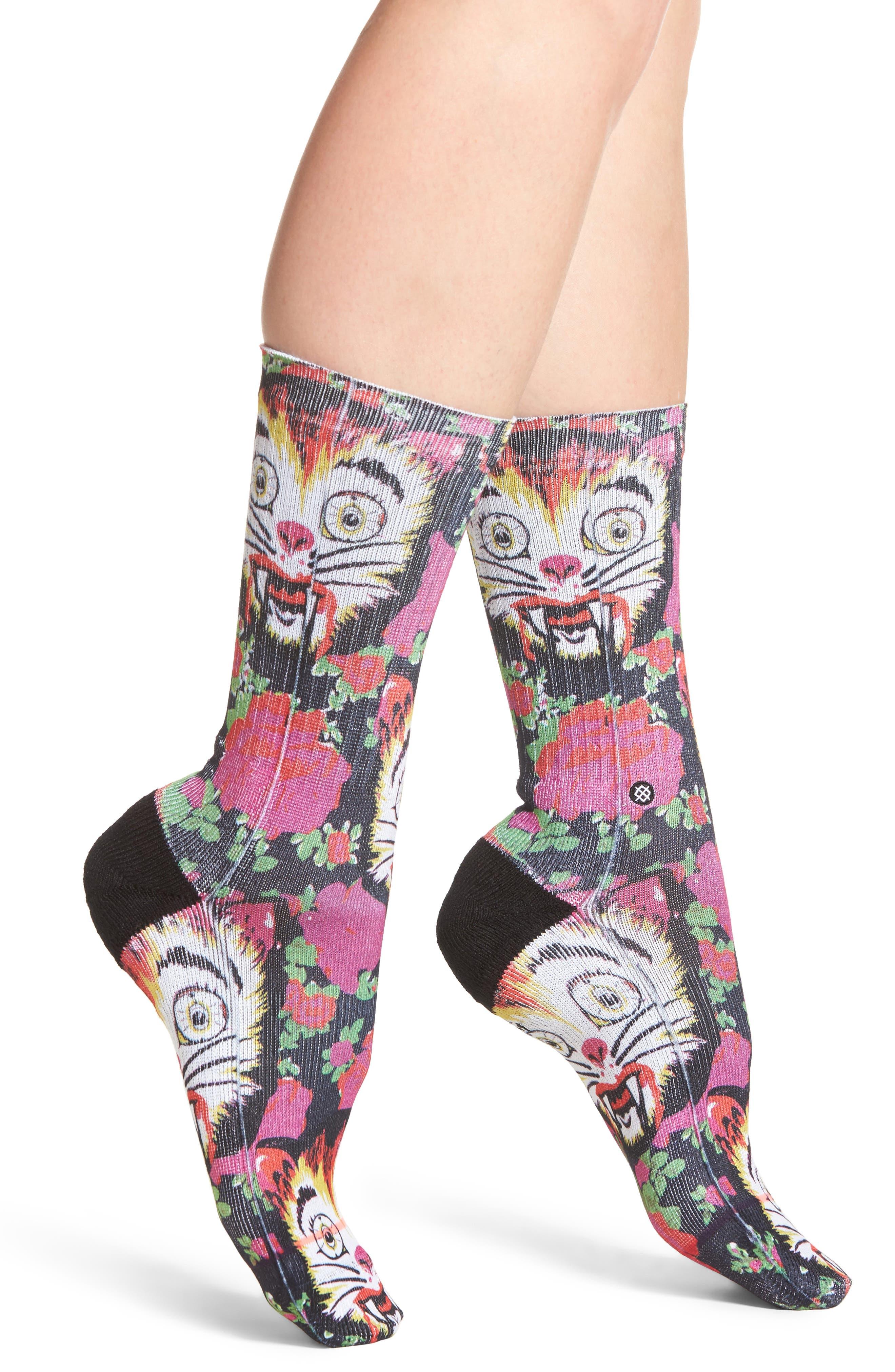 x Libertine Cat Man Do Socks,                         Main,                         color, Pink Multi