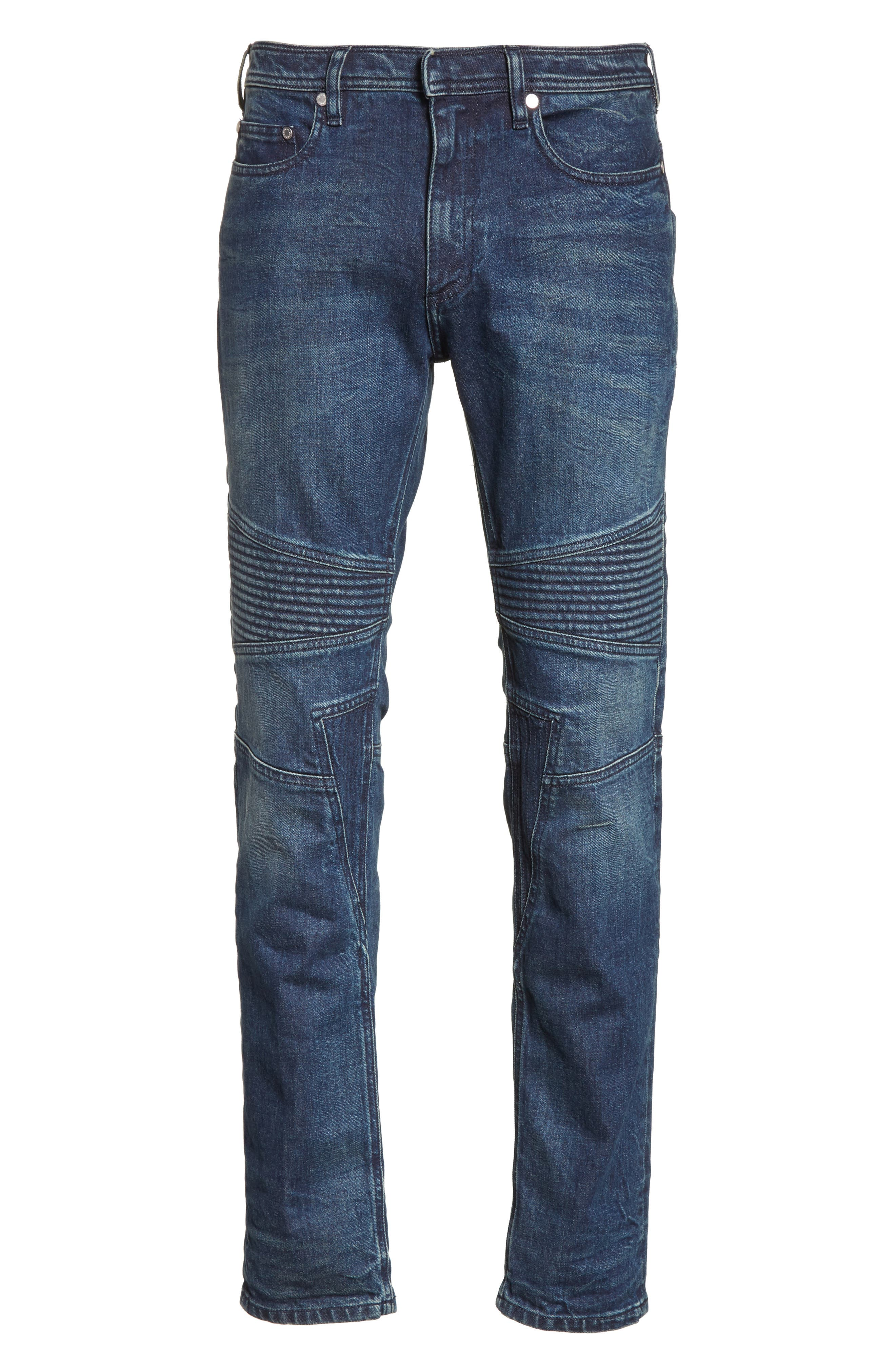 Moto Jeans,                             Alternate thumbnail 6, color,                             Indigo Blue