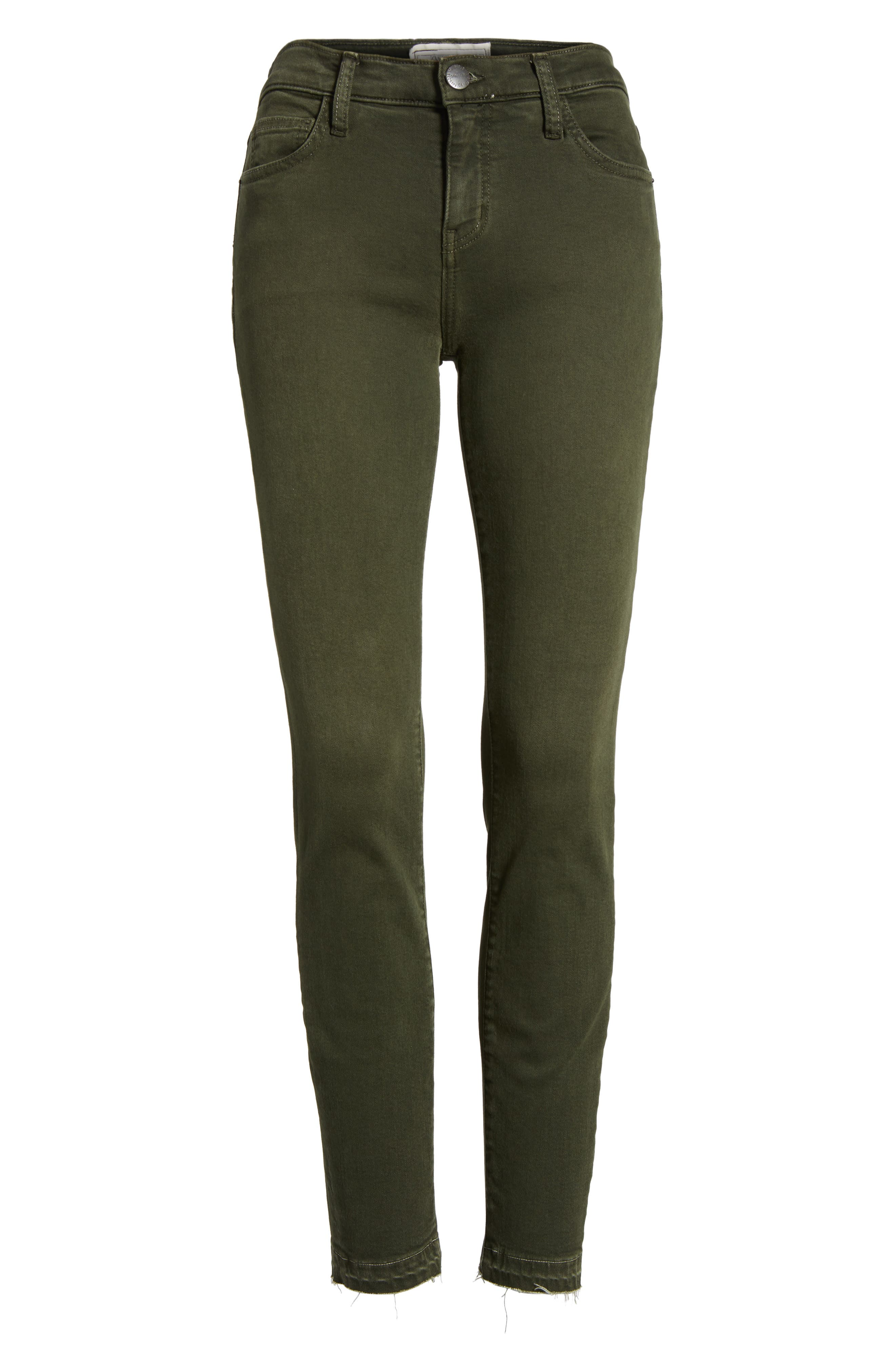 The Stiletto Ankle Skinny Jeans,                             Alternate thumbnail 6, color,                             Forest Night