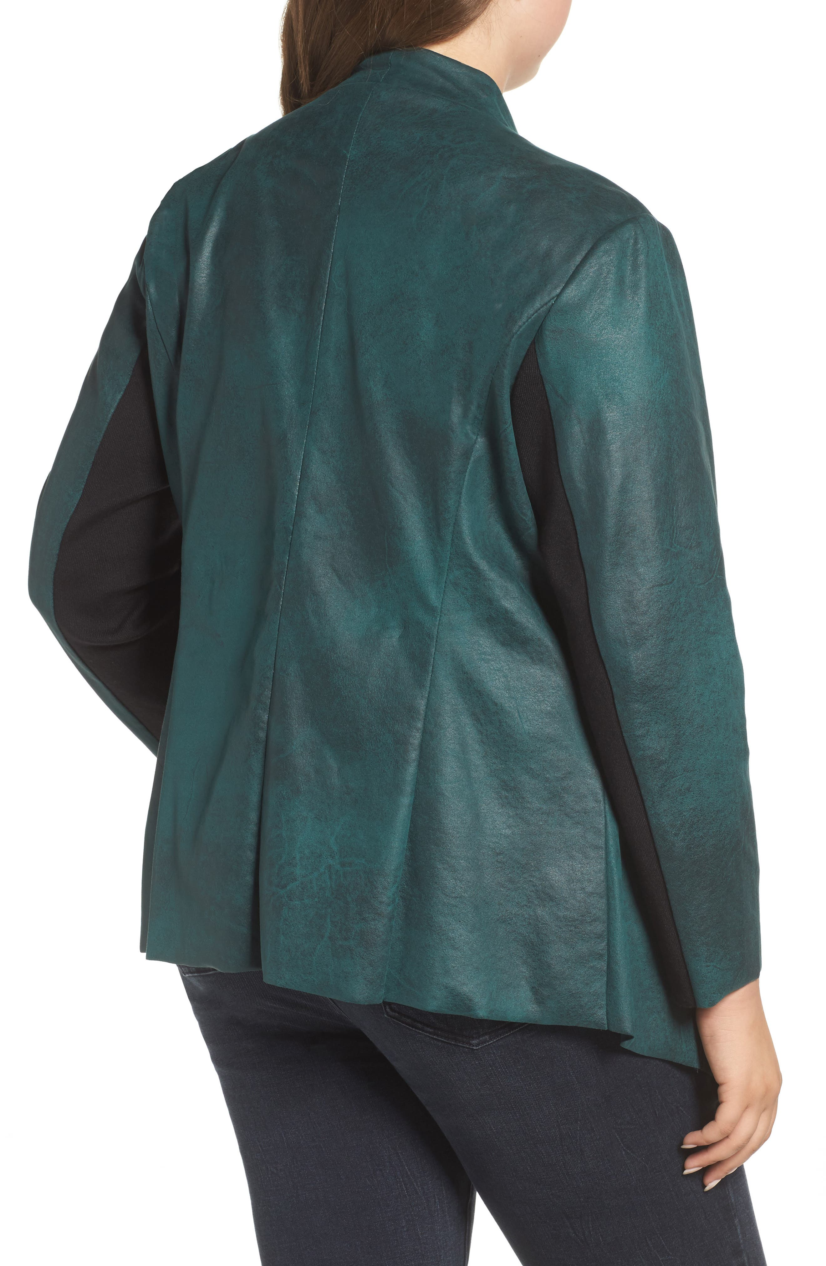 Stretch Faux Suede Jacket,                             Alternate thumbnail 2, color,                             Sea Moss