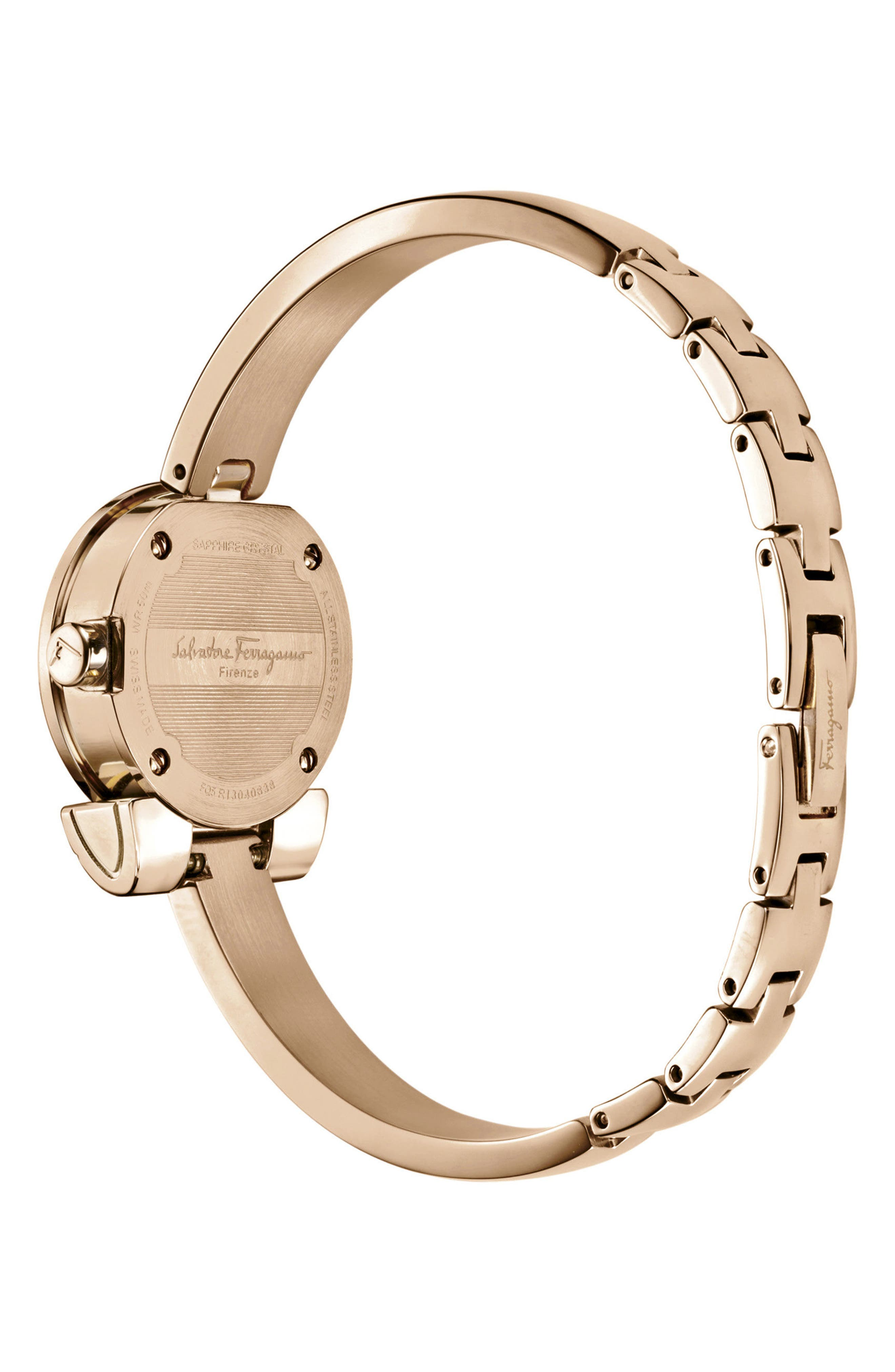 Alternate Image 2  - Salvatore Ferragamo Gancino Bracelet Watch, 22.5mm