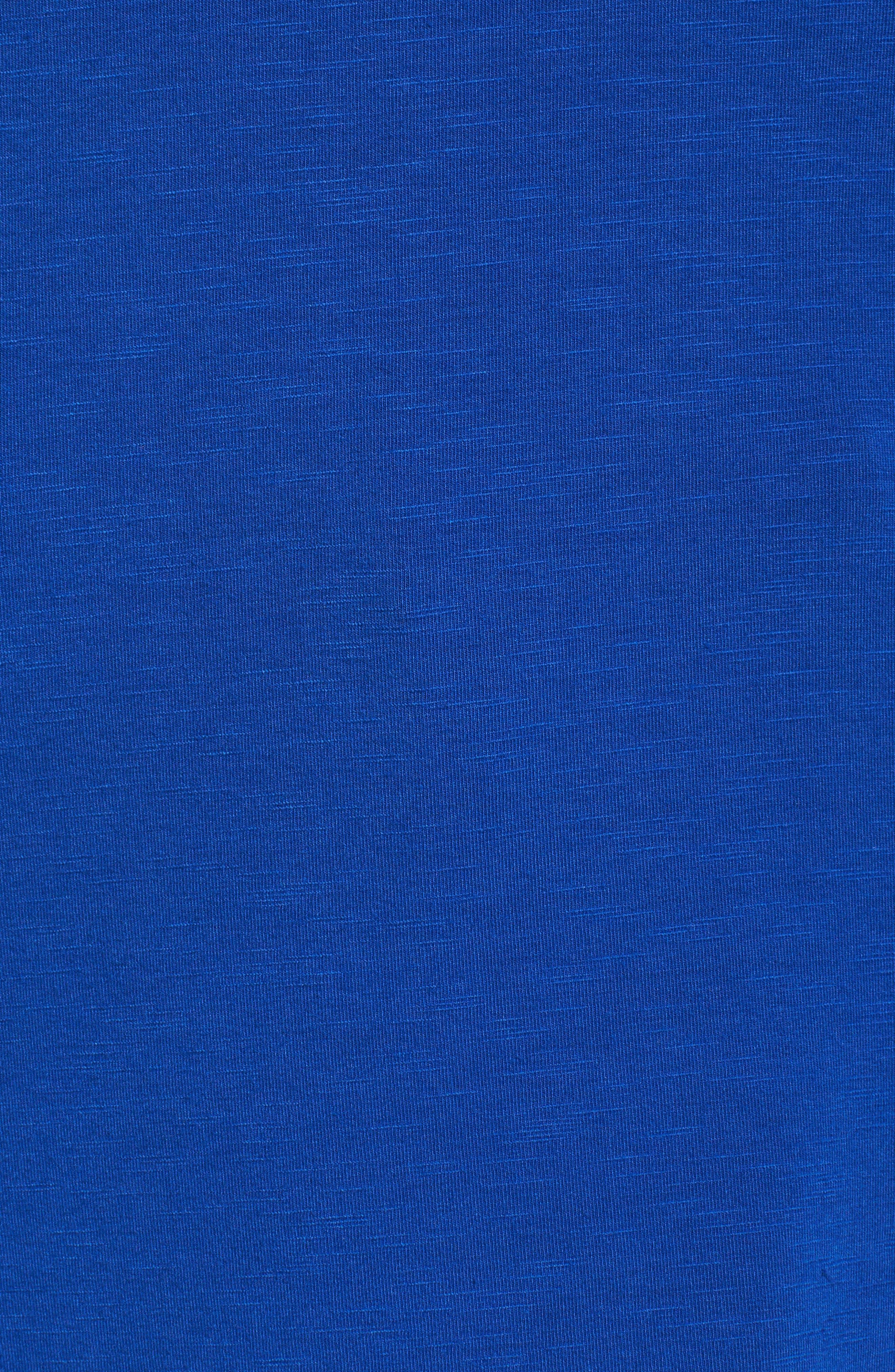 Alternate Image 5  - REBEL WILSON X ANGELS Lace-Up Slub Jersey Top (Plus Size)