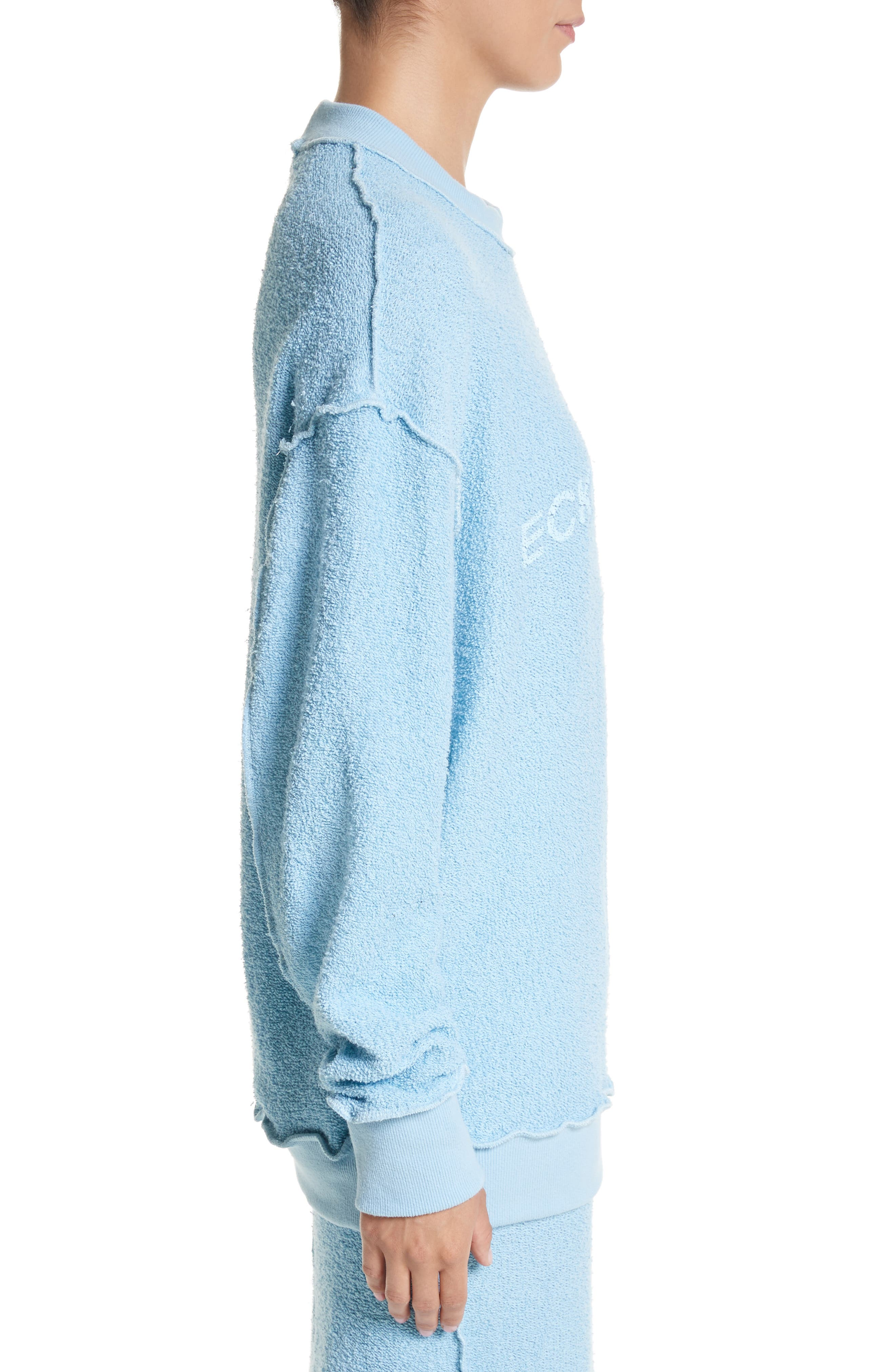 Alternate Image 5  - Eckhaus Latta Drop Shoulder Reverse Terry Sweatshirt