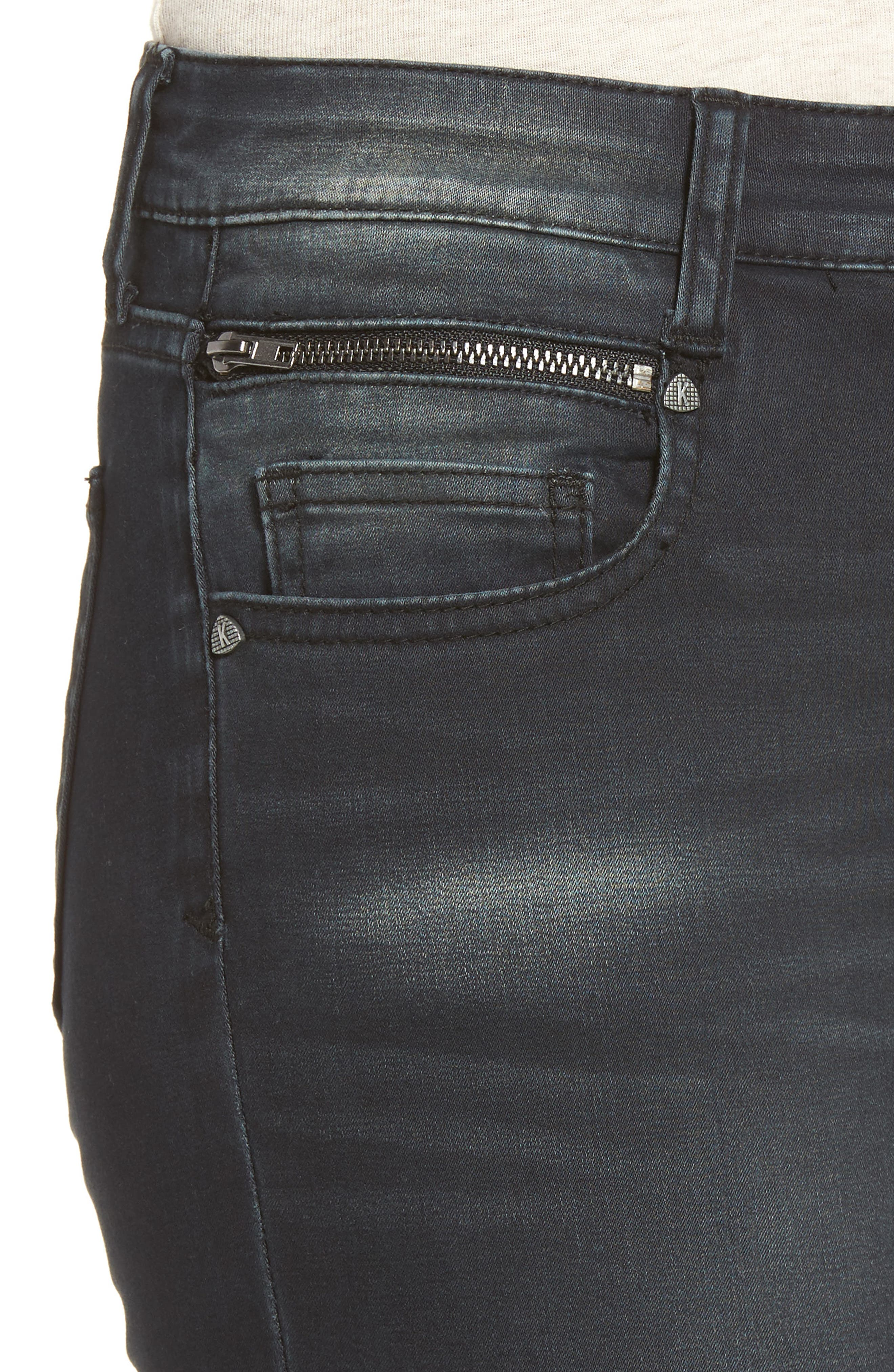 Alternate Image 4  - KUT from the Kloth Reese Skinny Ankle Jeans (Proven)