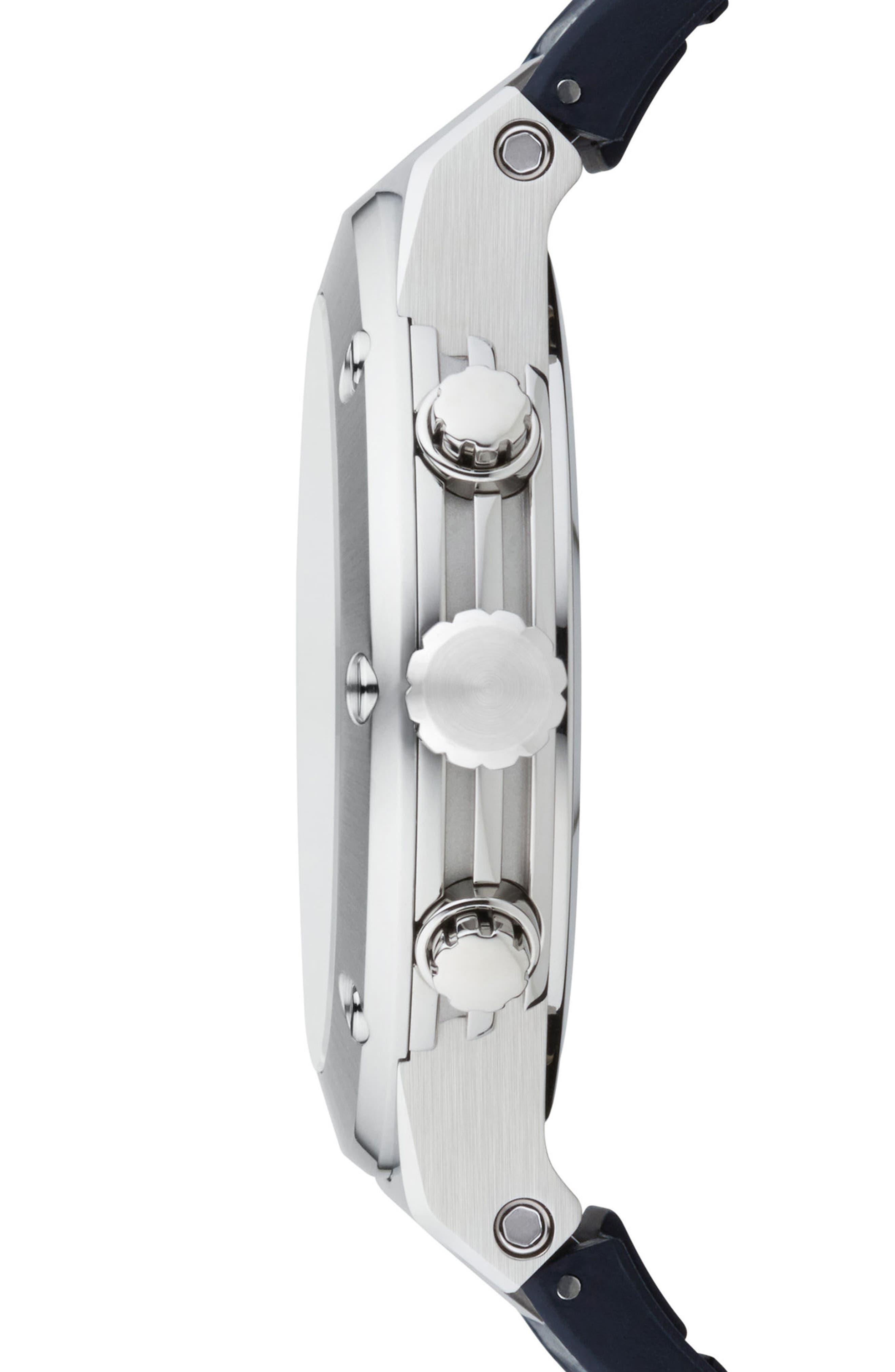 Alternate Image 3  - Salvatore Ferragamo F80 Chronograph Leather Strap Watch, 44mm