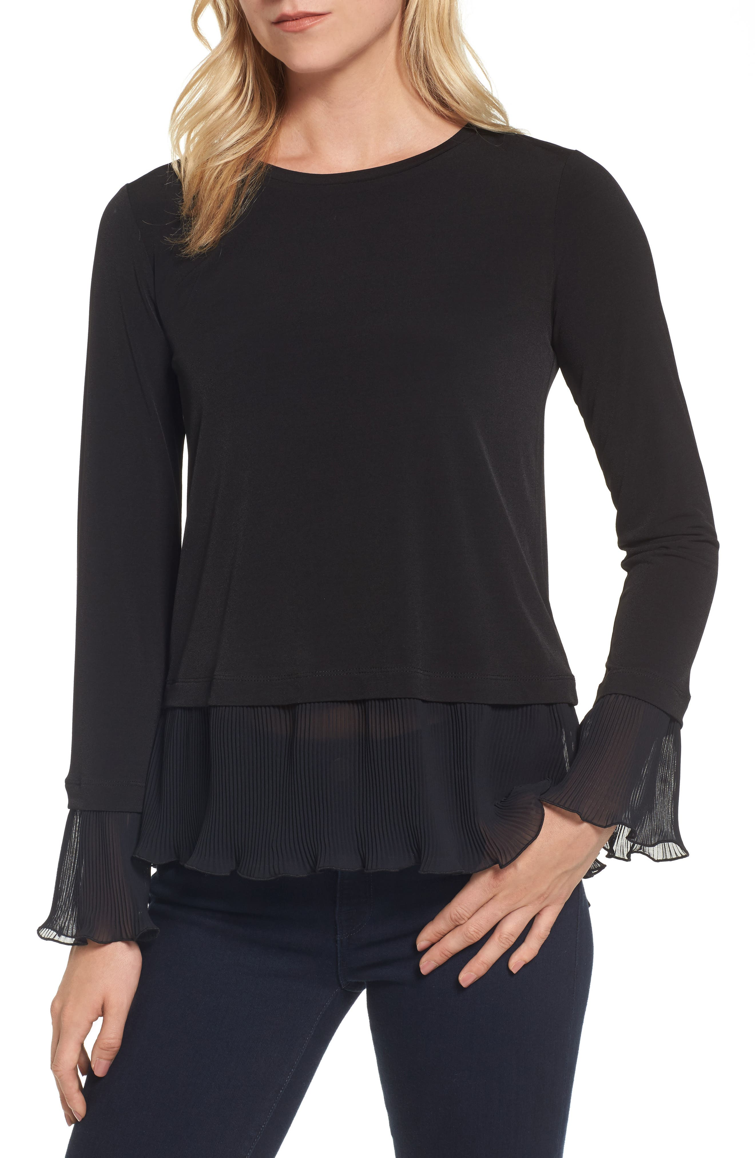 Alternate Image 1 Selected - MICHAEL Michael Kors Ruffle Hem Top