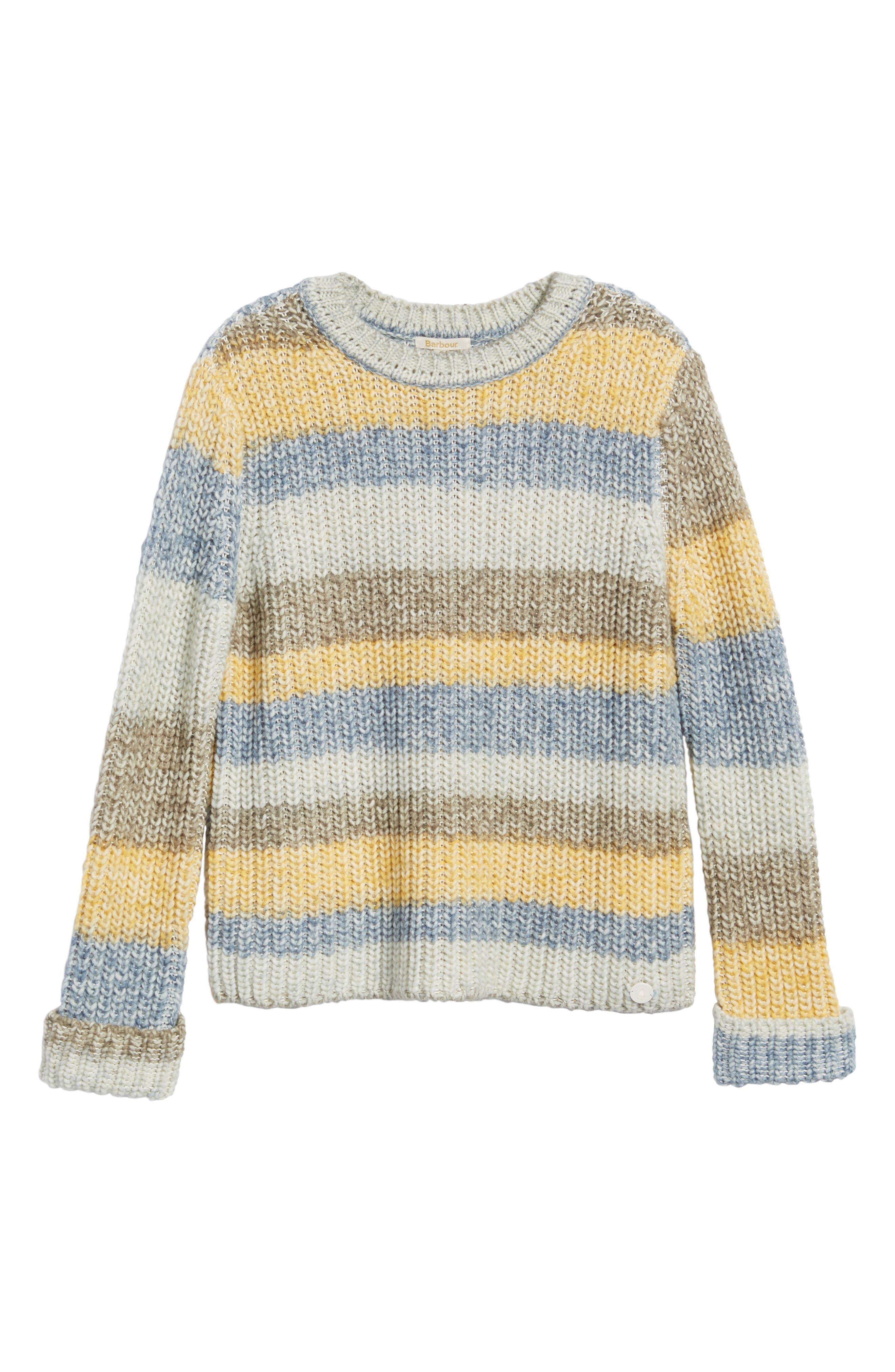 Hive Knit Fisherman Sweater,                             Alternate thumbnail 6, color,                             Sun Gold