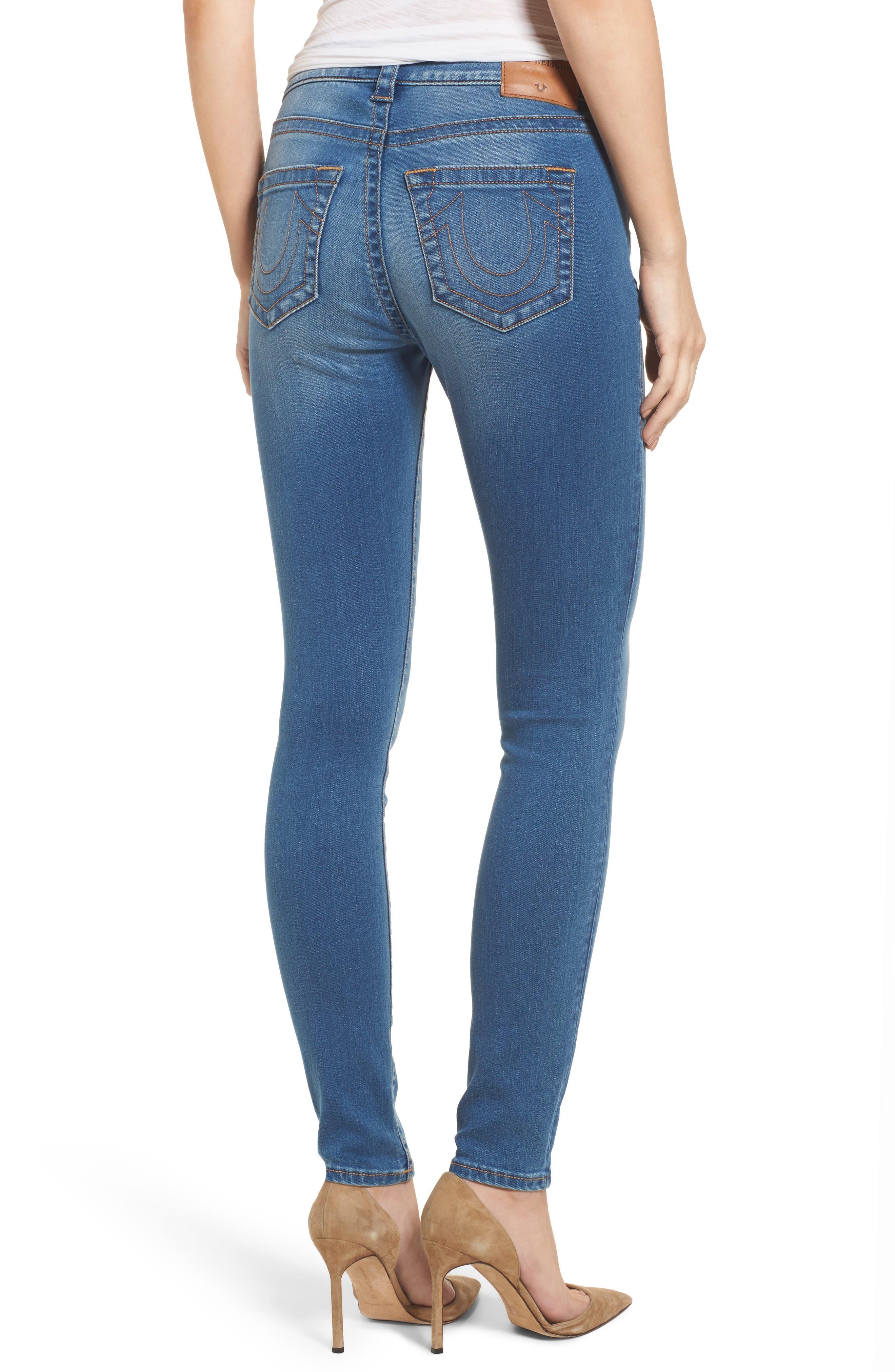 Jennie Curvy Skinny Jeans,                             Alternate thumbnail 2, color,                             Nu Authentic Indigo